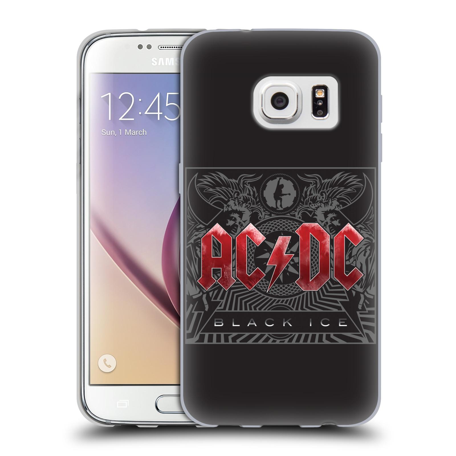 Silikonové pouzdro na mobil Samsung Galaxy S7 HEAD CASE AC/DC Black Ice (Silikonový kryt či obal na mobilní telefon s oficiálním motivem australské skupiny AC/DC pro Samsung Galaxy S7 SM-G930F)