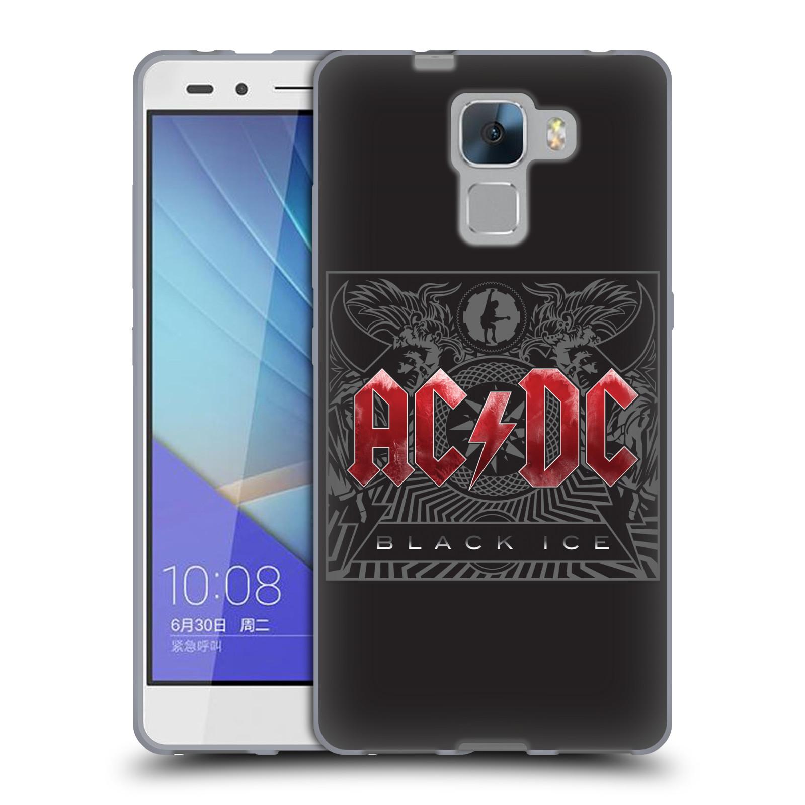 Silikonové pouzdro na mobil Honor 7 HEAD CASE AC/DC Black Ice
