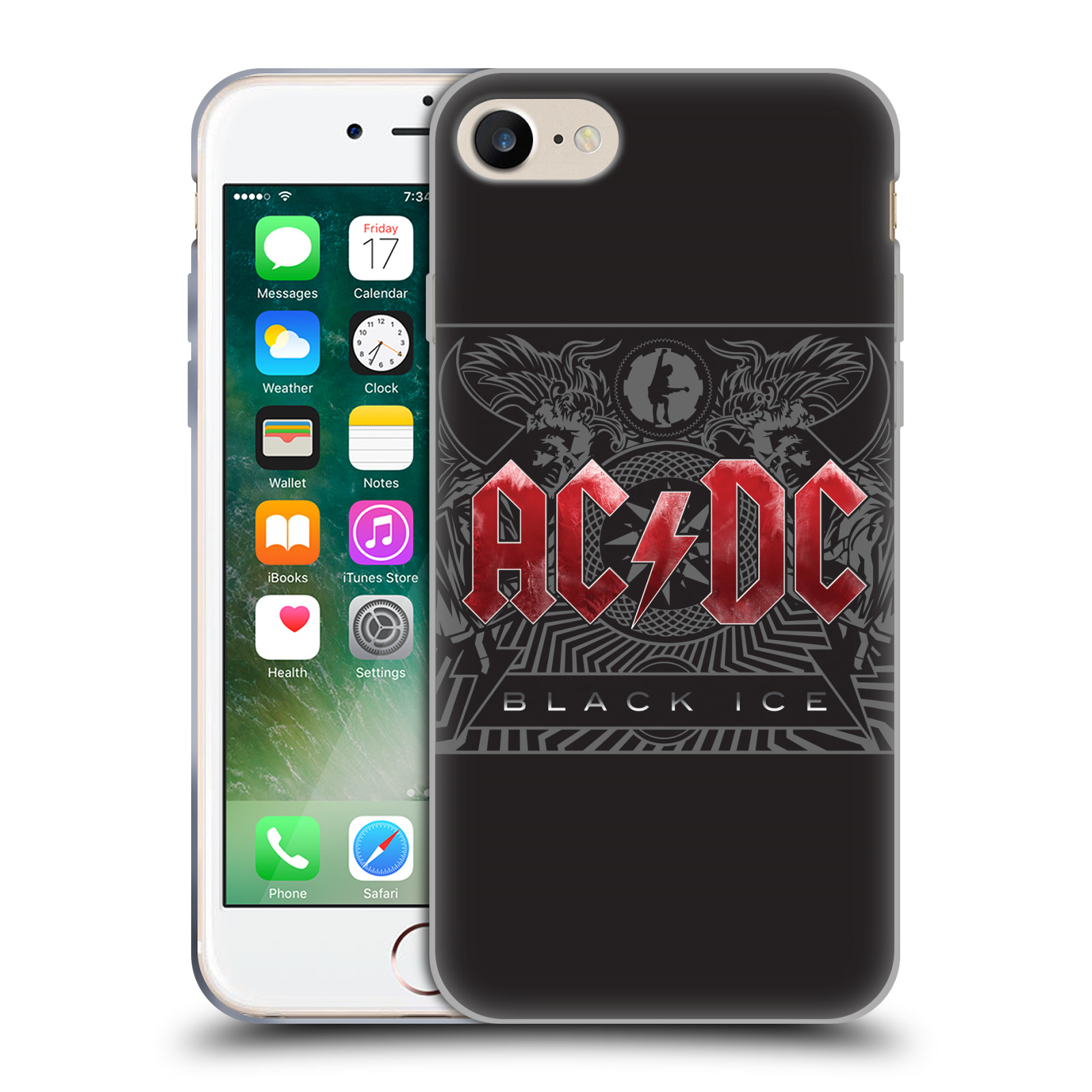 Silikonové pouzdro na mobil Apple iPhone 8 - Head Case - AC/DC Black Ice