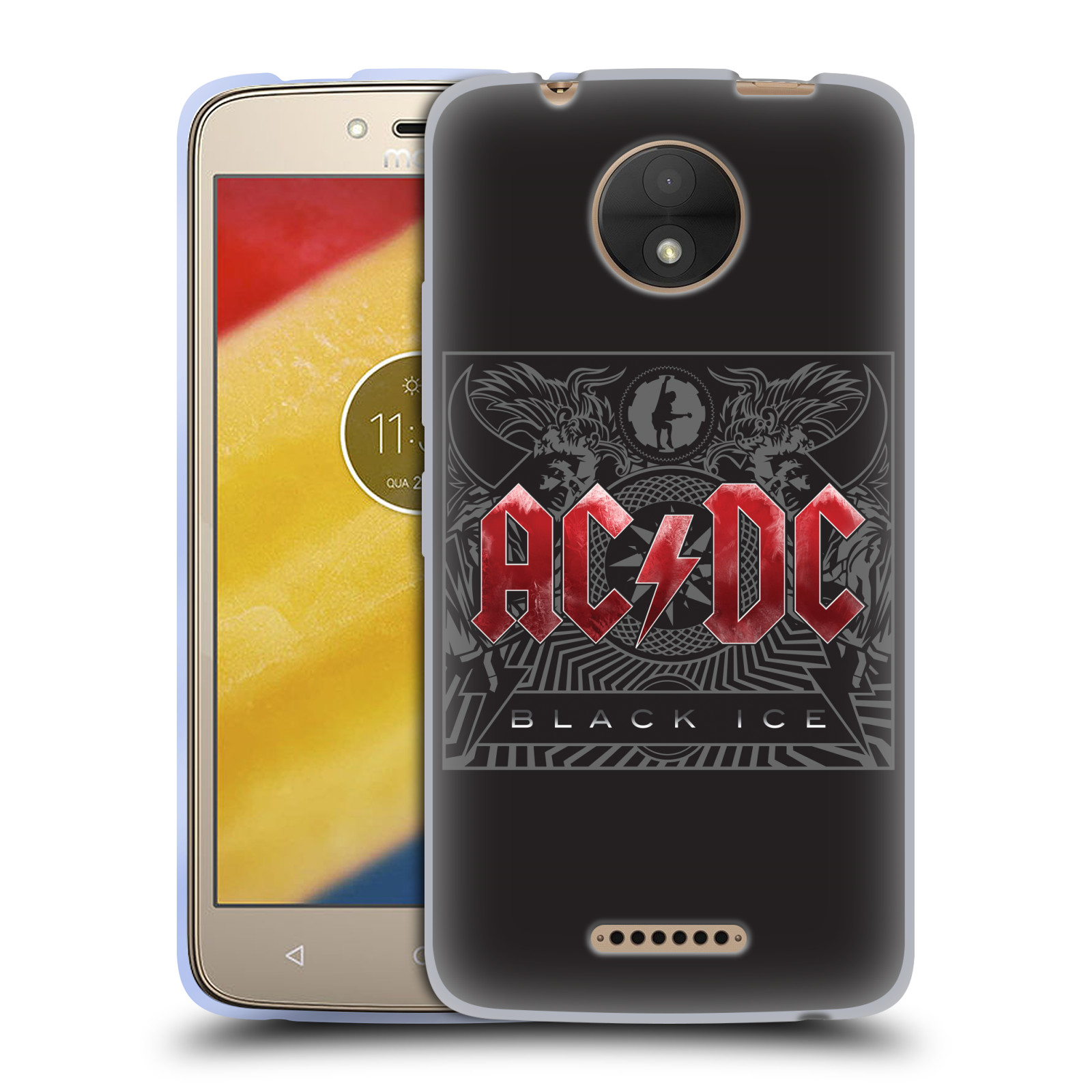 Silikonové pouzdro na mobil Lenovo Moto C - Head Case - AC/DC Black Ice