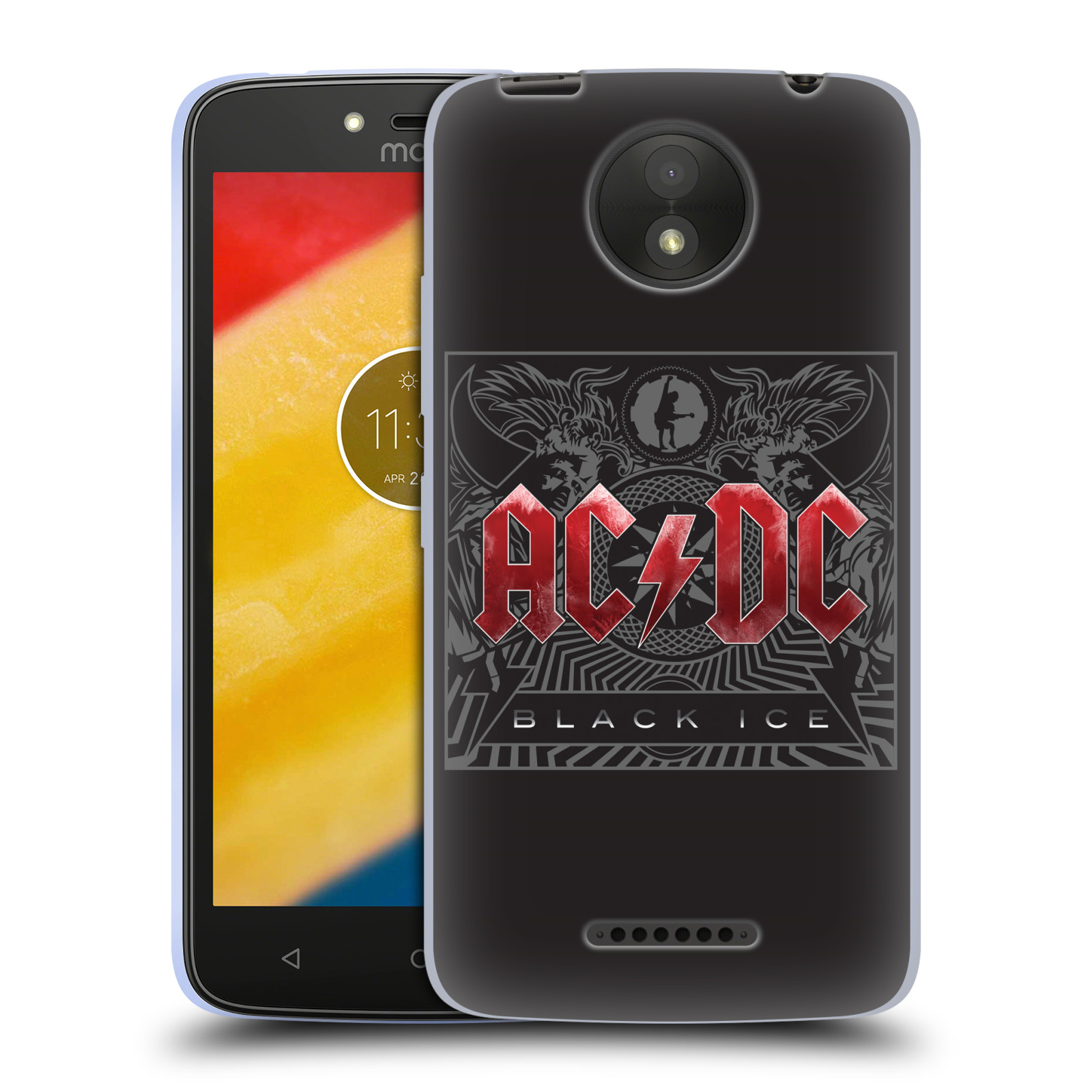Silikonové pouzdro na mobil Lenovo Moto C Plus - Head Case - AC/DC Black Ice