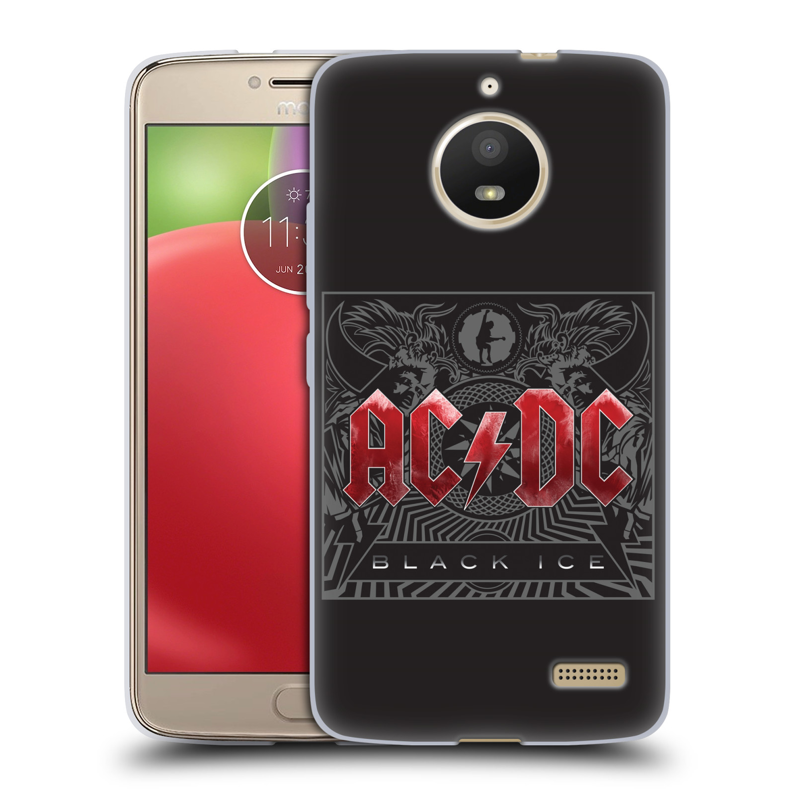 Silikonové pouzdro na mobil Lenovo Moto E4 - Head Case - AC/DC Black Ice
