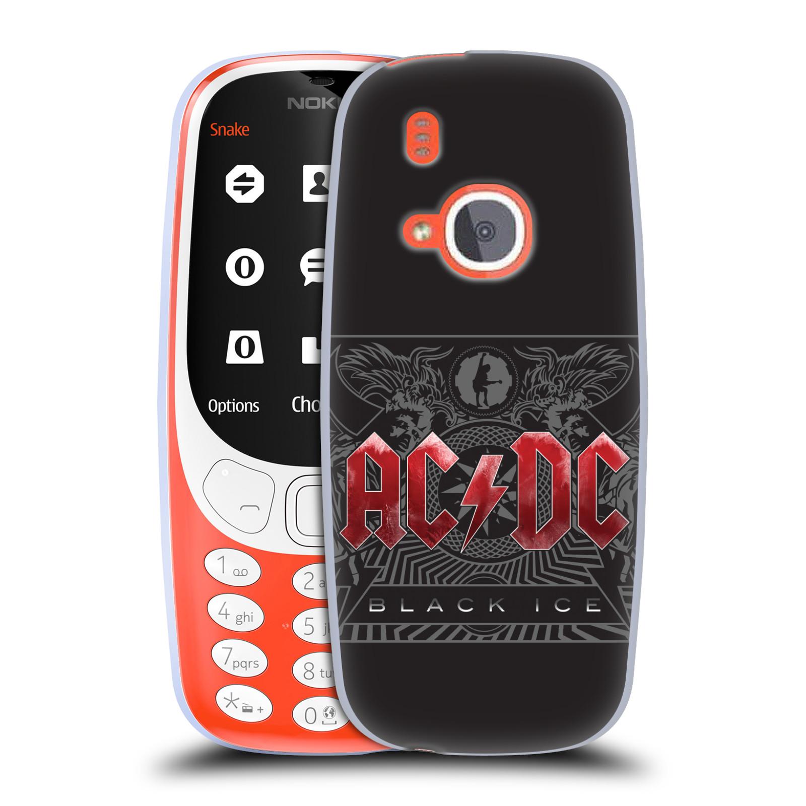 Silikonové pouzdro na mobil Nokia 3310 - Head Case - AC/DC Black Ice