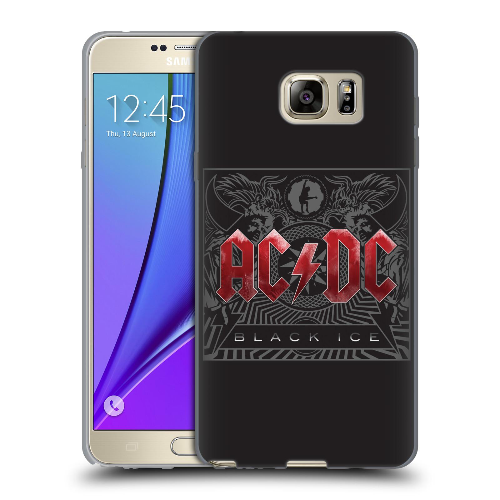 Silikonové pouzdro na mobil Samsung Galaxy Note 5 HEAD CASE AC/DC Black Ice (Silikonový kryt či obal na mobilní telefon s oficiálním motivem australské skupiny AC/DC pro Samsung Galaxy Note 5 SM-N920)