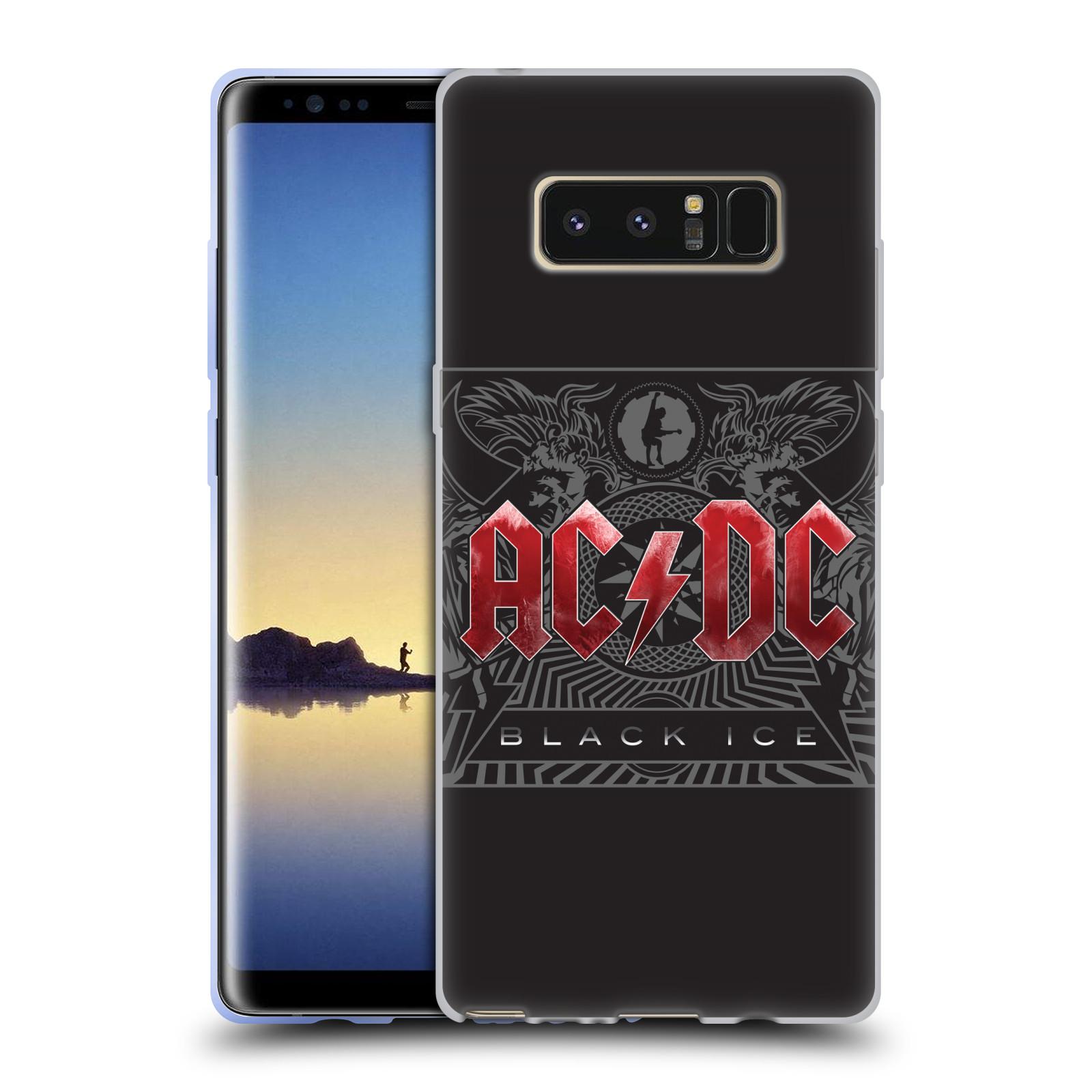 Silikonové pouzdro na mobil Samsung Galaxy Note 8 - Head Case - AC/DC Black Ice (Silikonový kryt či obal na mobilní telefon Samsung Galaxy Note 8 SM-N950 s motivem AC/DC Black Ice)
