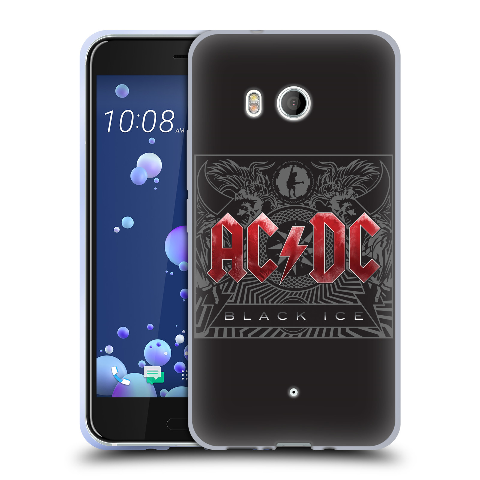 Silikonové pouzdro na mobil HTC U11 - Head Case - AC/DC Black Ice