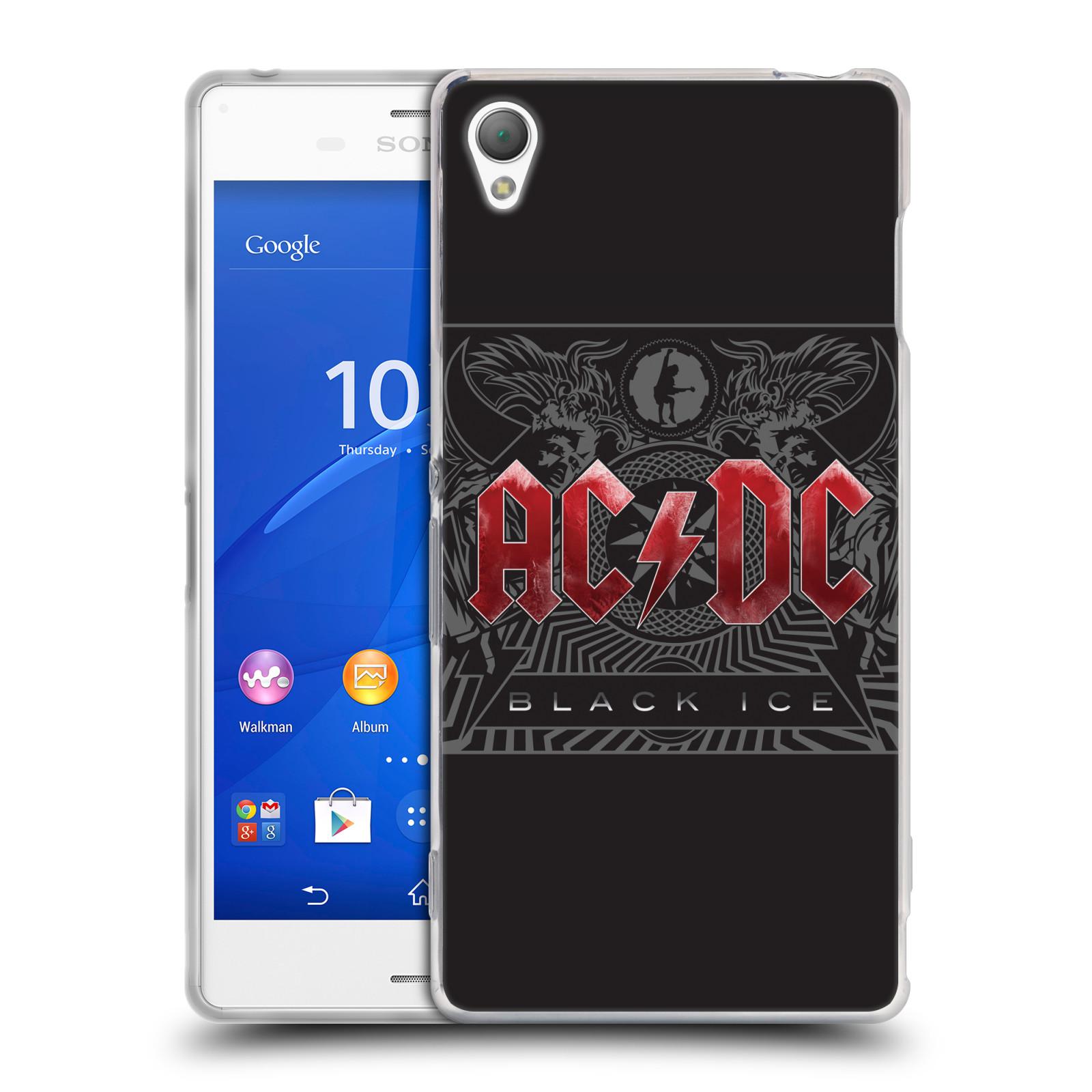 Silikonové pouzdro na mobil Sony Xperia Z3 D6603 HEAD CASE AC/DC Black Ice