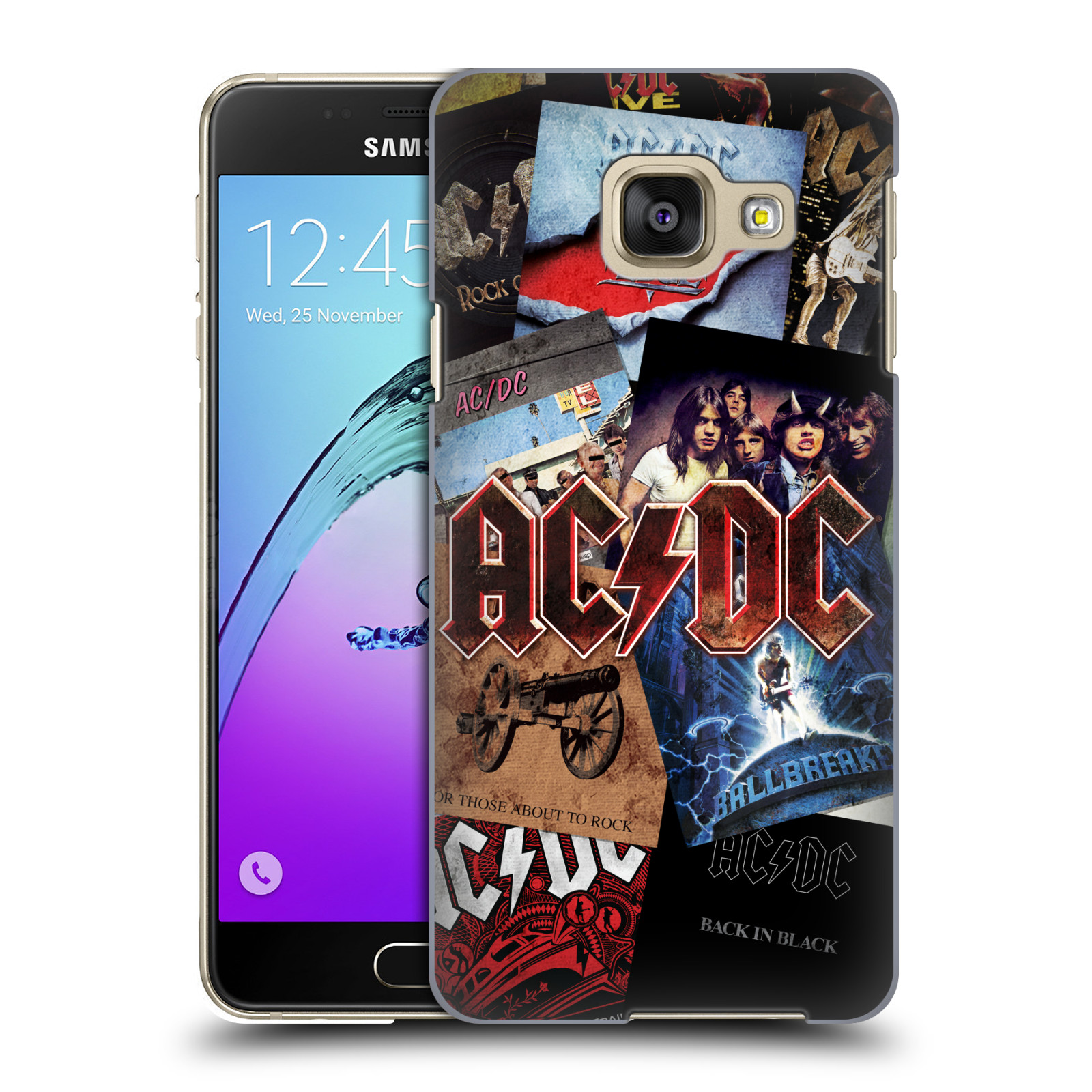 Plastové pouzdro na mobil Samsung Galaxy A3 (2016) HEAD CASE AC/DC Koláž desek