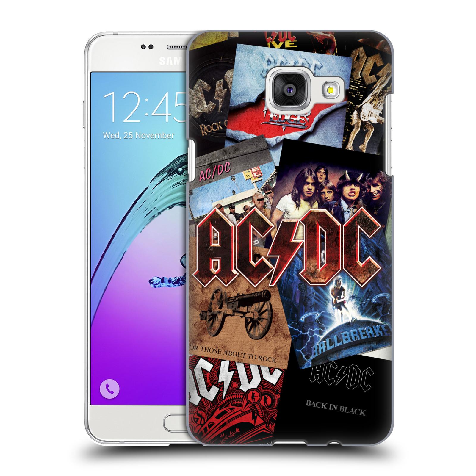 Plastové pouzdro na mobil Samsung Galaxy A5 (2016) HEAD CASE AC/DC Koláž desek