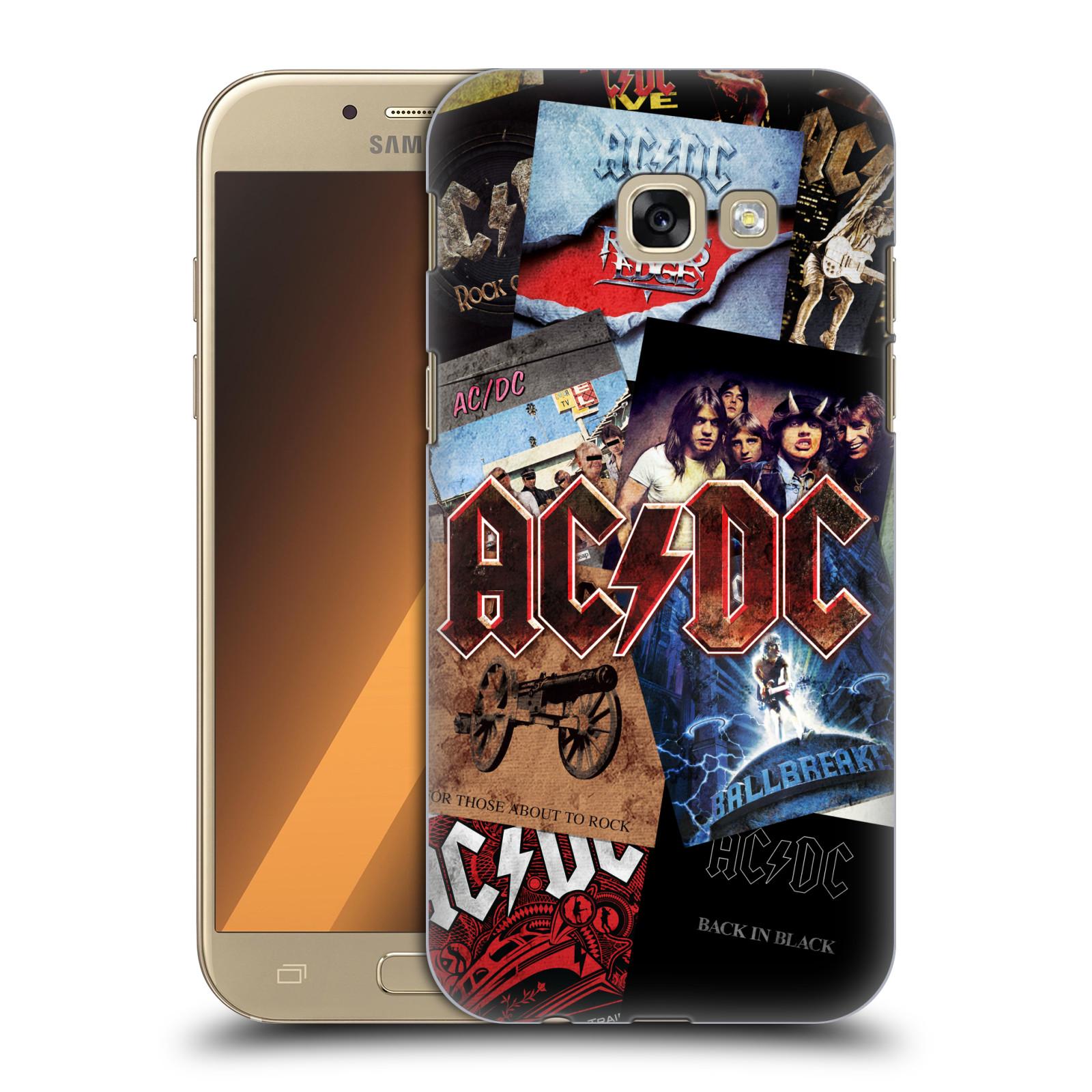 Plastové pouzdro na mobil Samsung Galaxy A5 (2017) HEAD CASE AC/DC Koláž desek