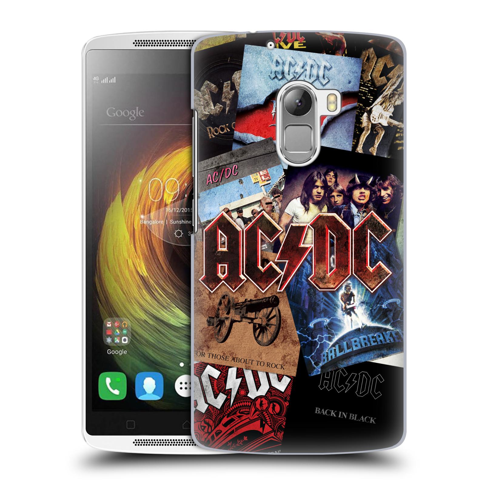 Plastové pouzdro na mobil Lenovo A7010 HEAD CASE AC/DC Koláž desek