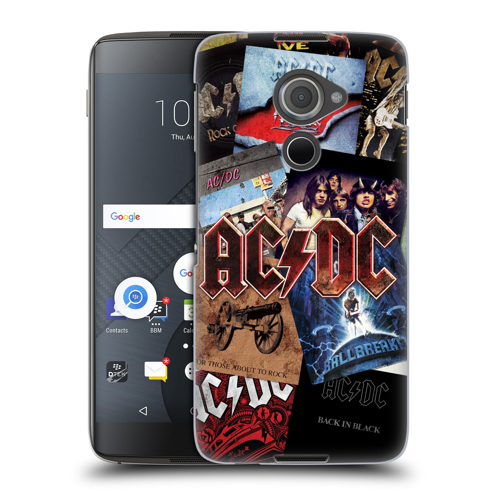 Plastové pouzdro na mobil Blackberry DTEK60 (Argon) - Head Case AC/DC Koláž desek