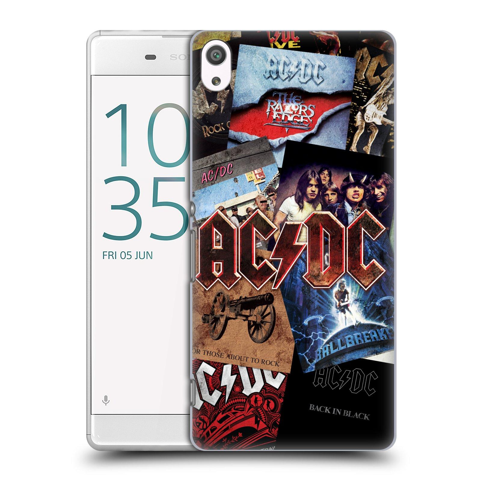 Plastové pouzdro na mobil Sony Xperia XA Ultra HEAD CASE AC/DC Koláž desek