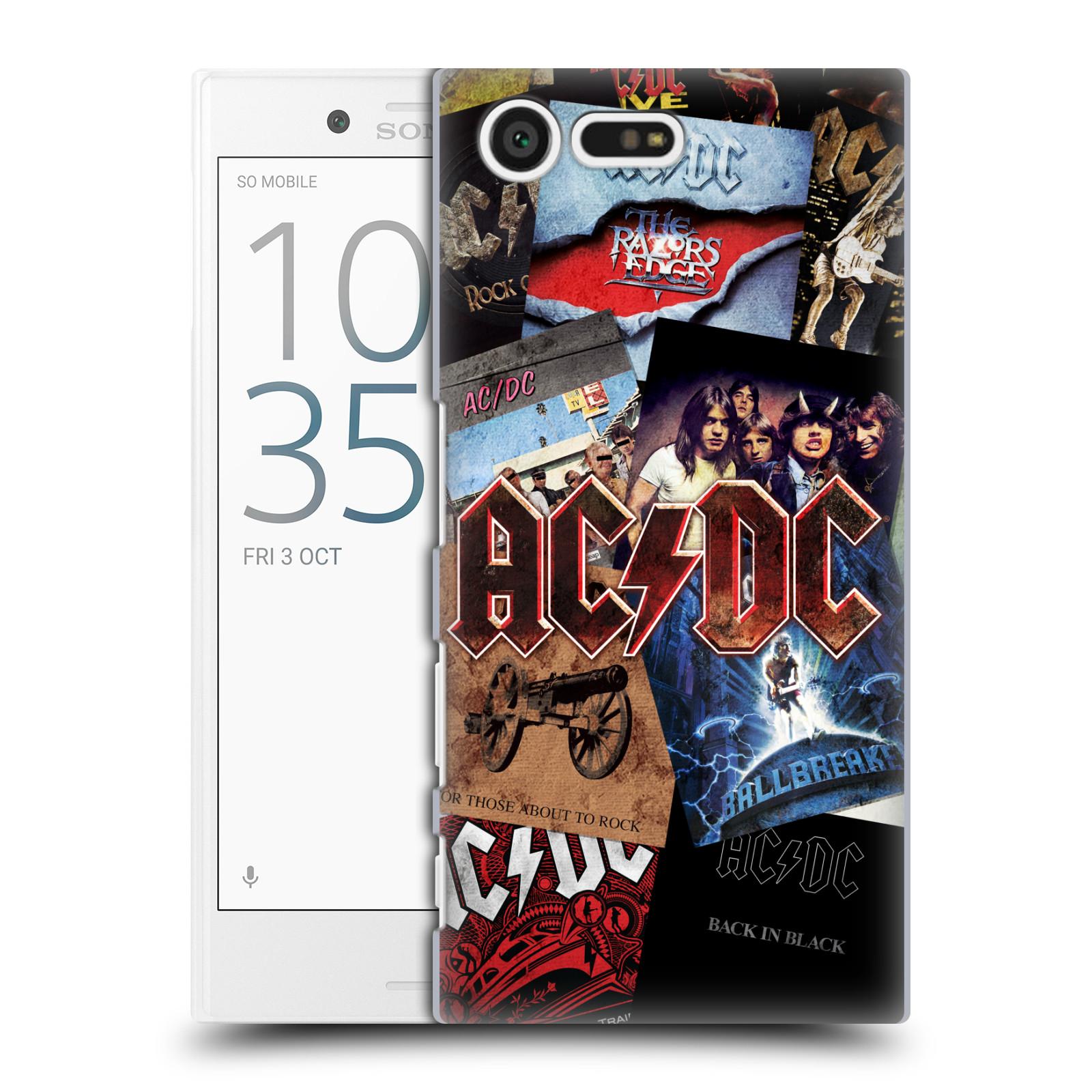 Plastové pouzdro na mobil Sony Xperia X Compact HEAD CASE AC/DC Koláž desek