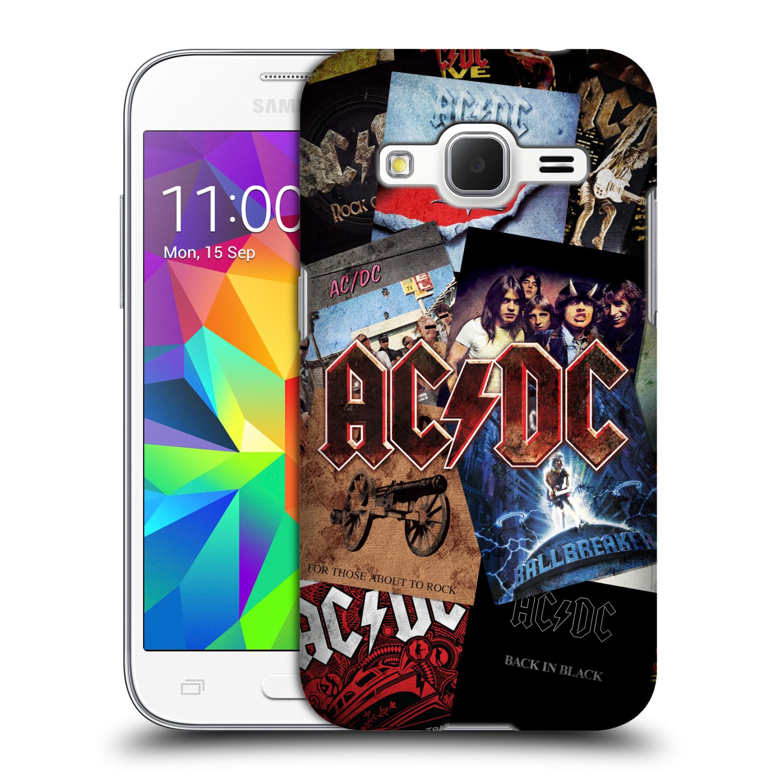 Plastové pouzdro na mobil Samsung Galaxy Core Prime VE HEAD CASE AC/DC Koláž desek