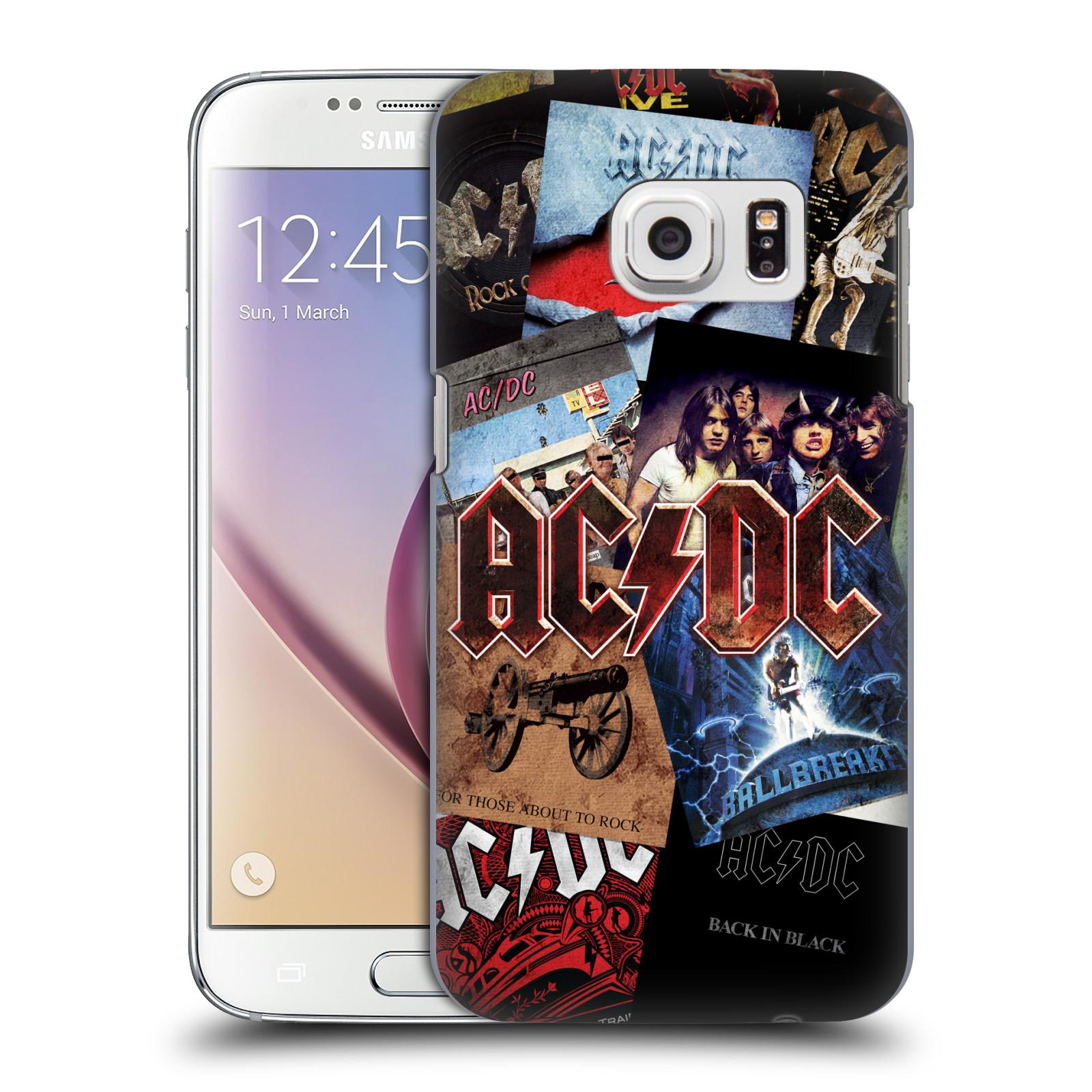 Plastové pouzdro na mobil Samsung Galaxy S7 HEAD CASE AC/DC Koláž desek
