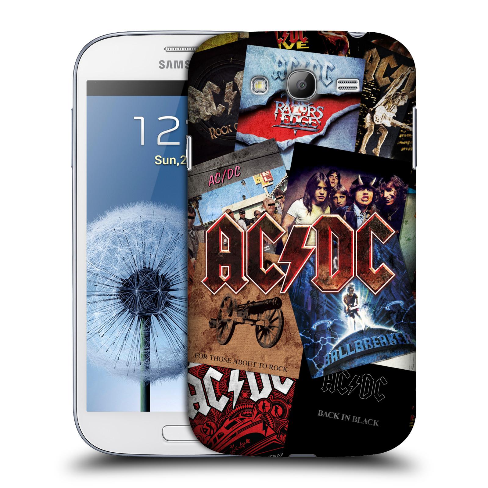 Plastové pouzdro na mobil Samsung Galaxy Grand Neo HEAD CASE AC/DC Koláž desek