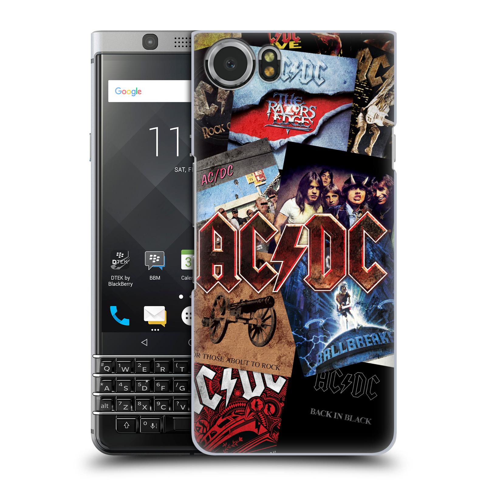 Plastové pouzdro na mobil BlackBerry KEYone - Head Case - AC/DC Koláž desek