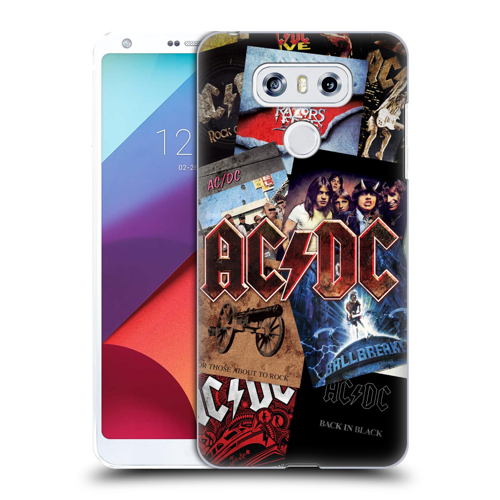 Plastové pouzdro na mobil LG G6 - Head Case AC/DC Koláž desek
