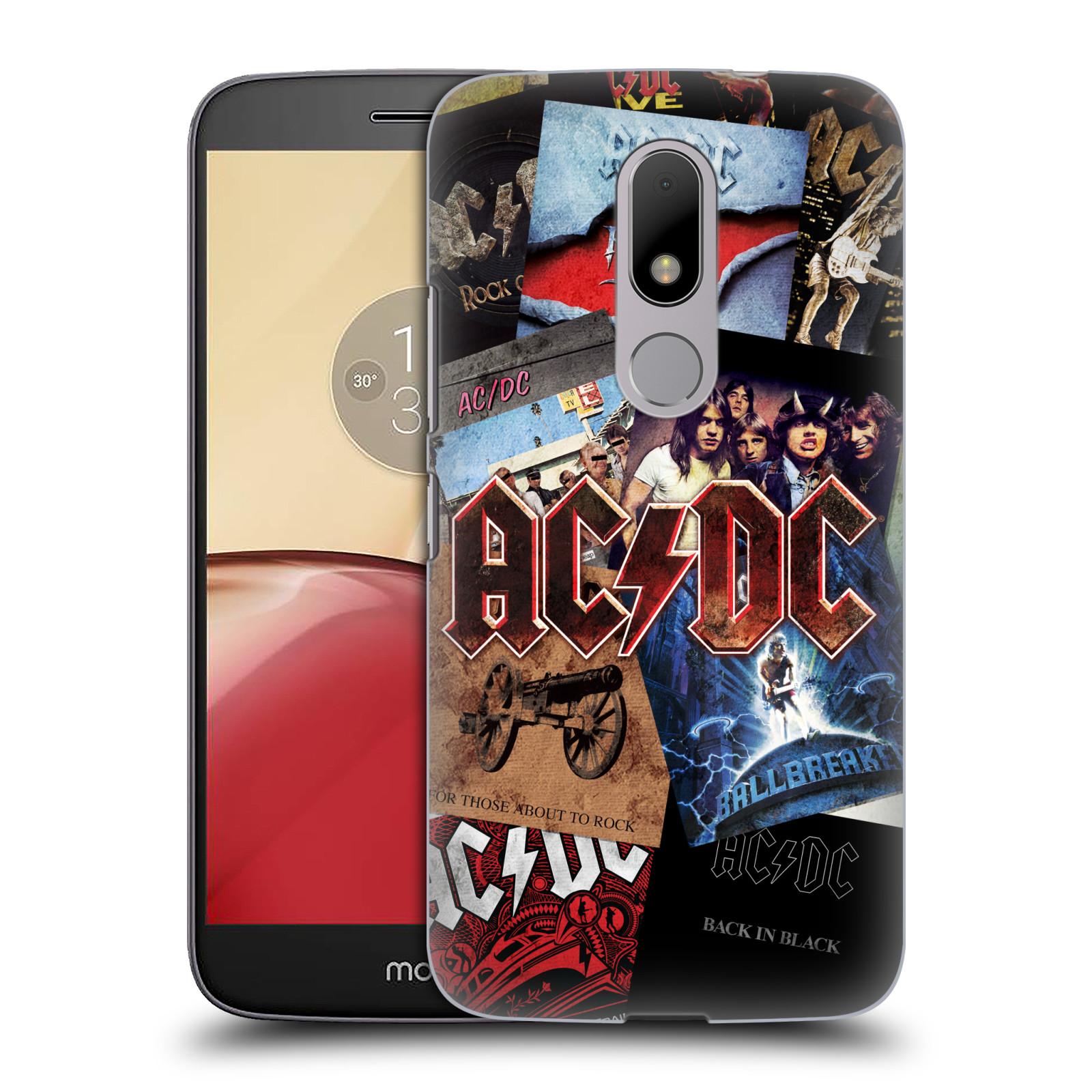 Plastové pouzdro na mobil Lenovo Moto M HEAD CASE AC/DC Koláž desek