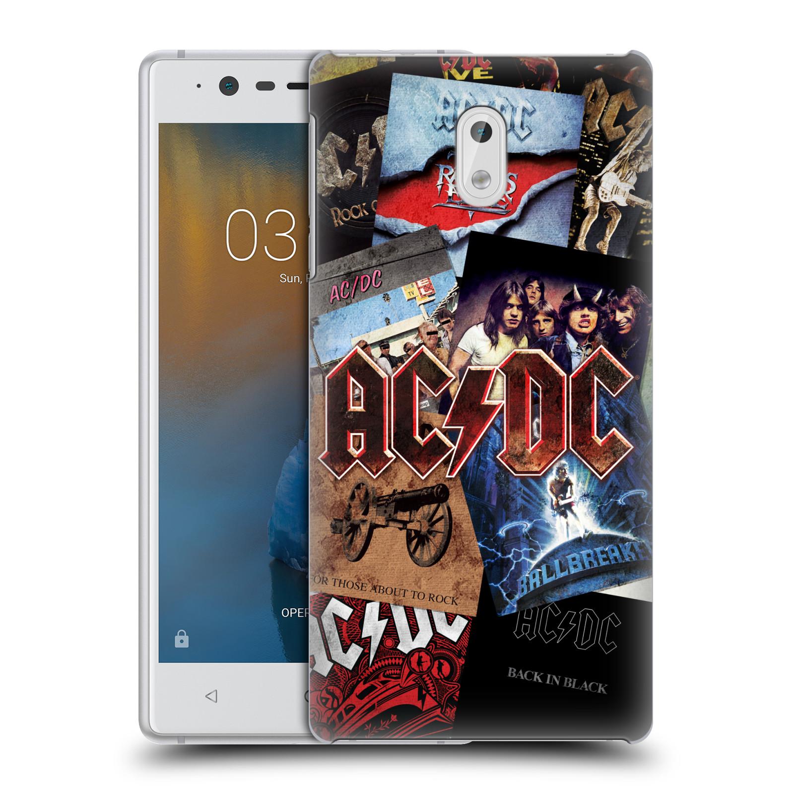 Plastové pouzdro na mobil Nokia 3 Head Case - AC/DC Koláž desek