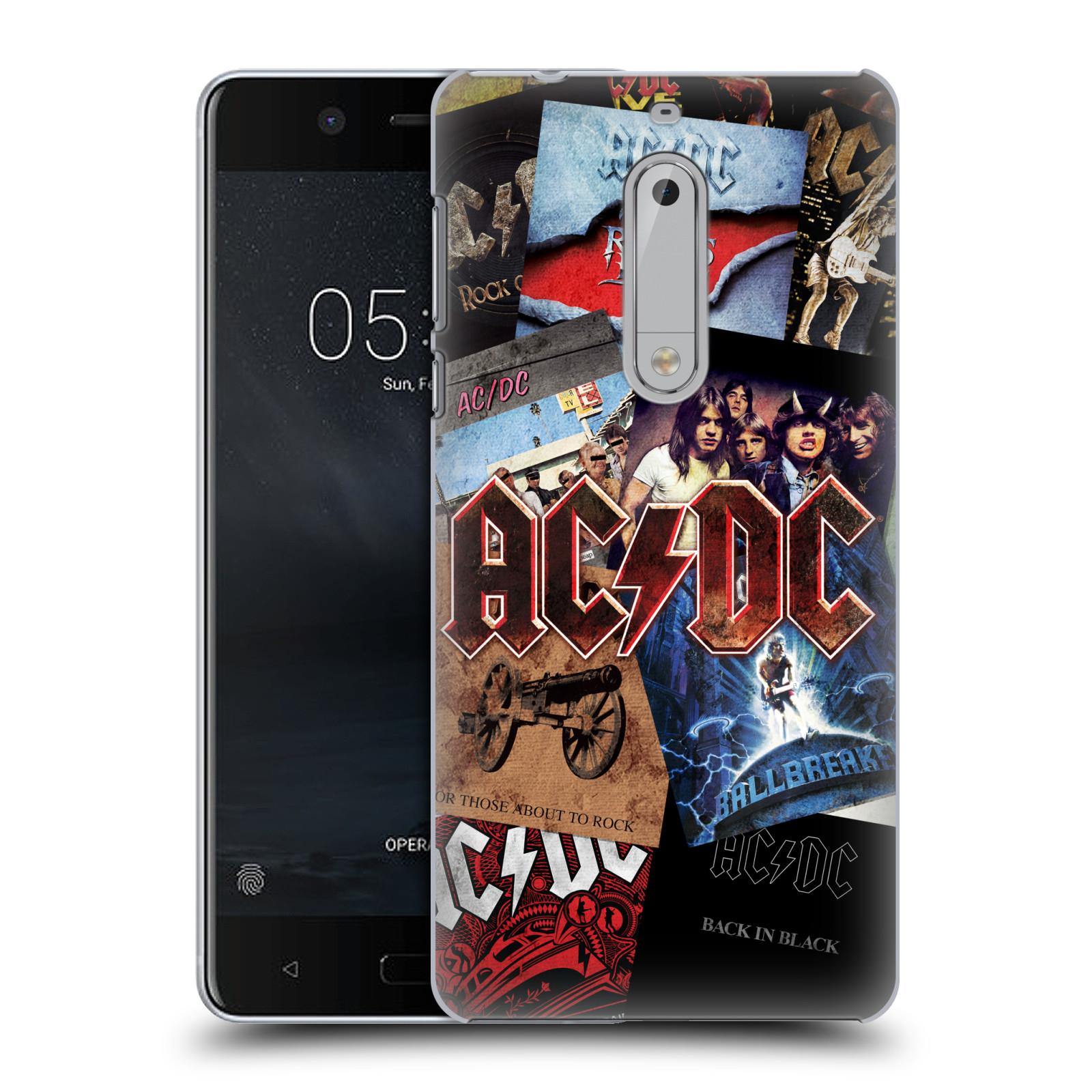 Plastové pouzdro na mobil Nokia 5 Head Case - AC/DC Koláž desek