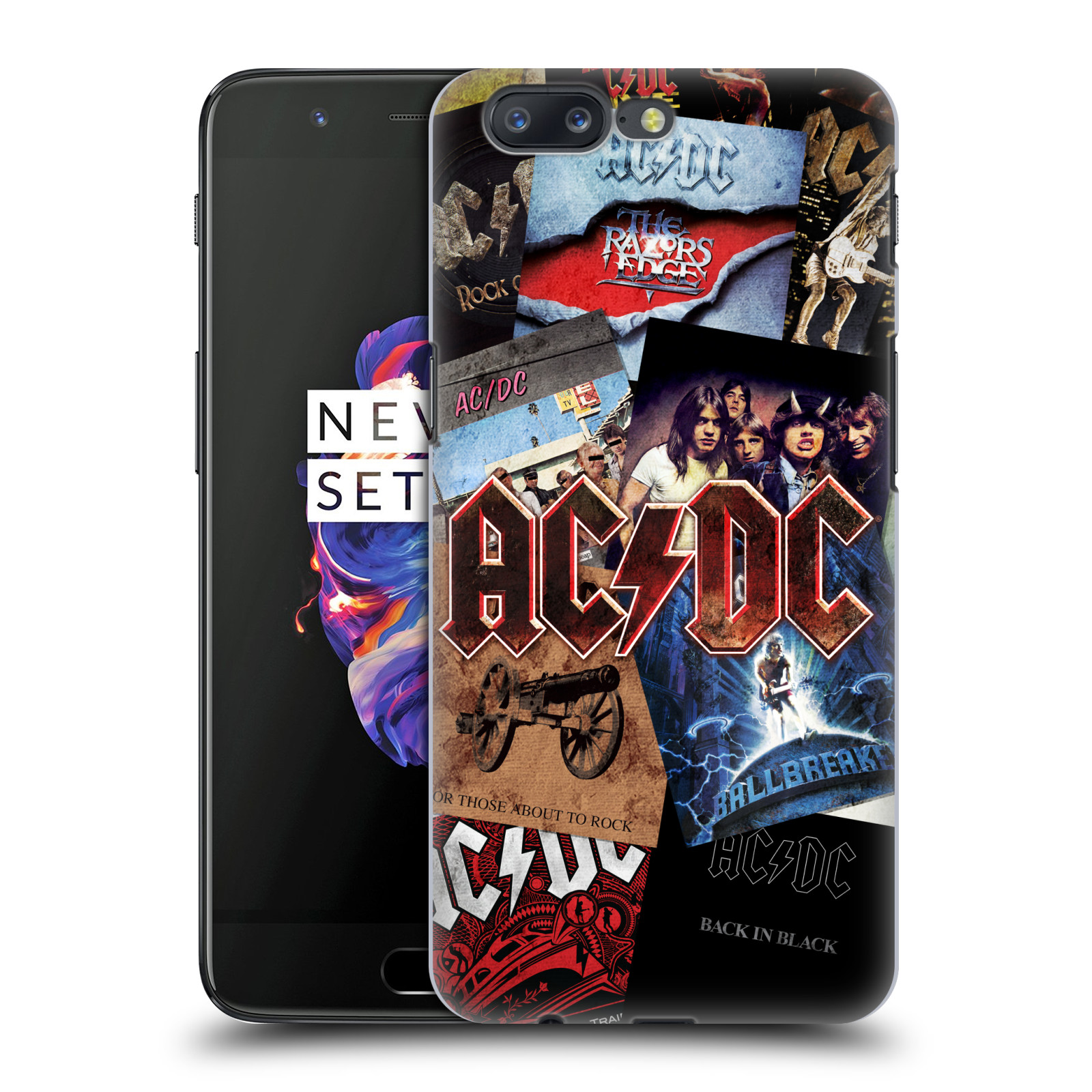Plastové pouzdro na mobil OnePlus 5 - Head Case - AC/DC Koláž desek