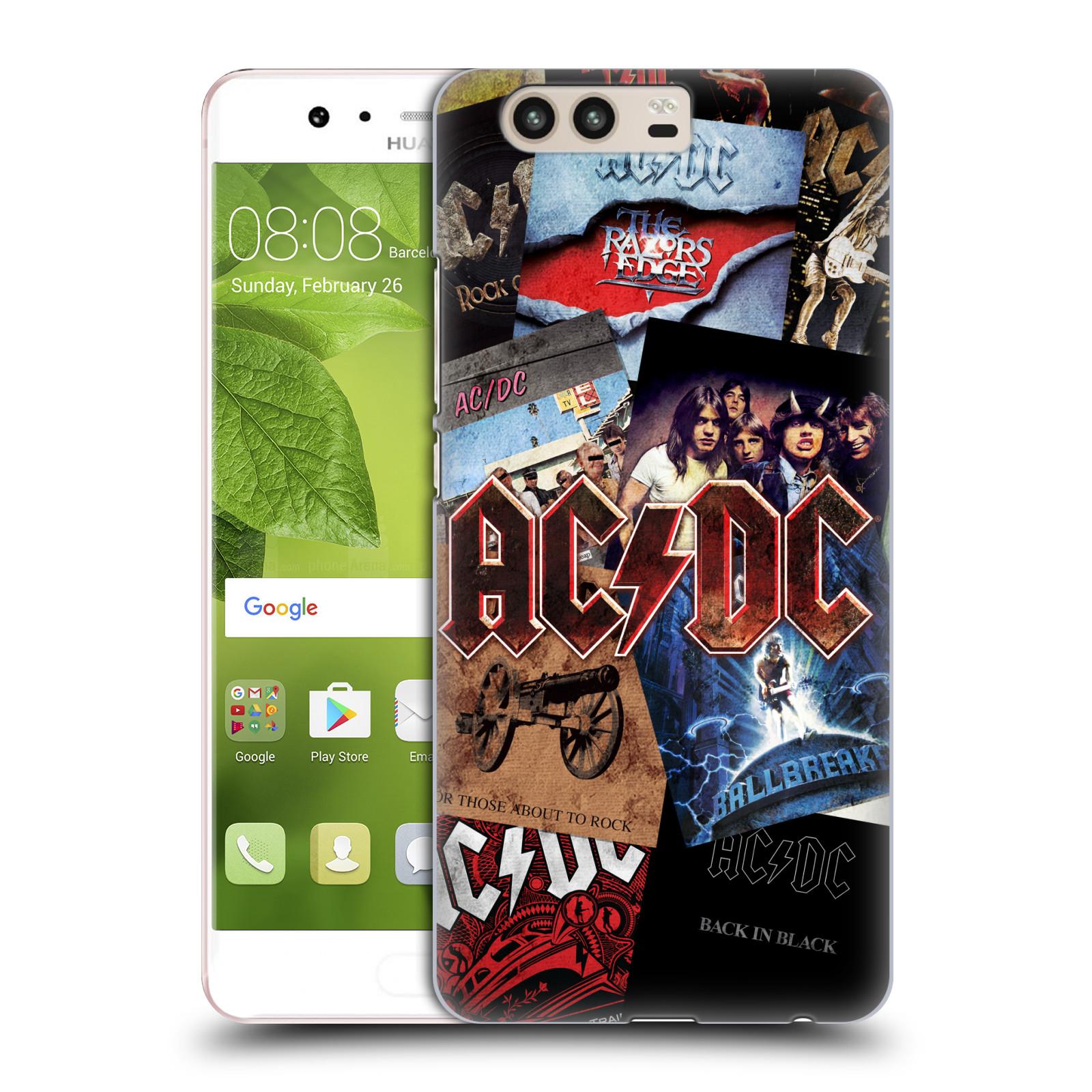 Plastové pouzdro na mobil Huawei P10 - Head Case AC/DC Koláž desek
