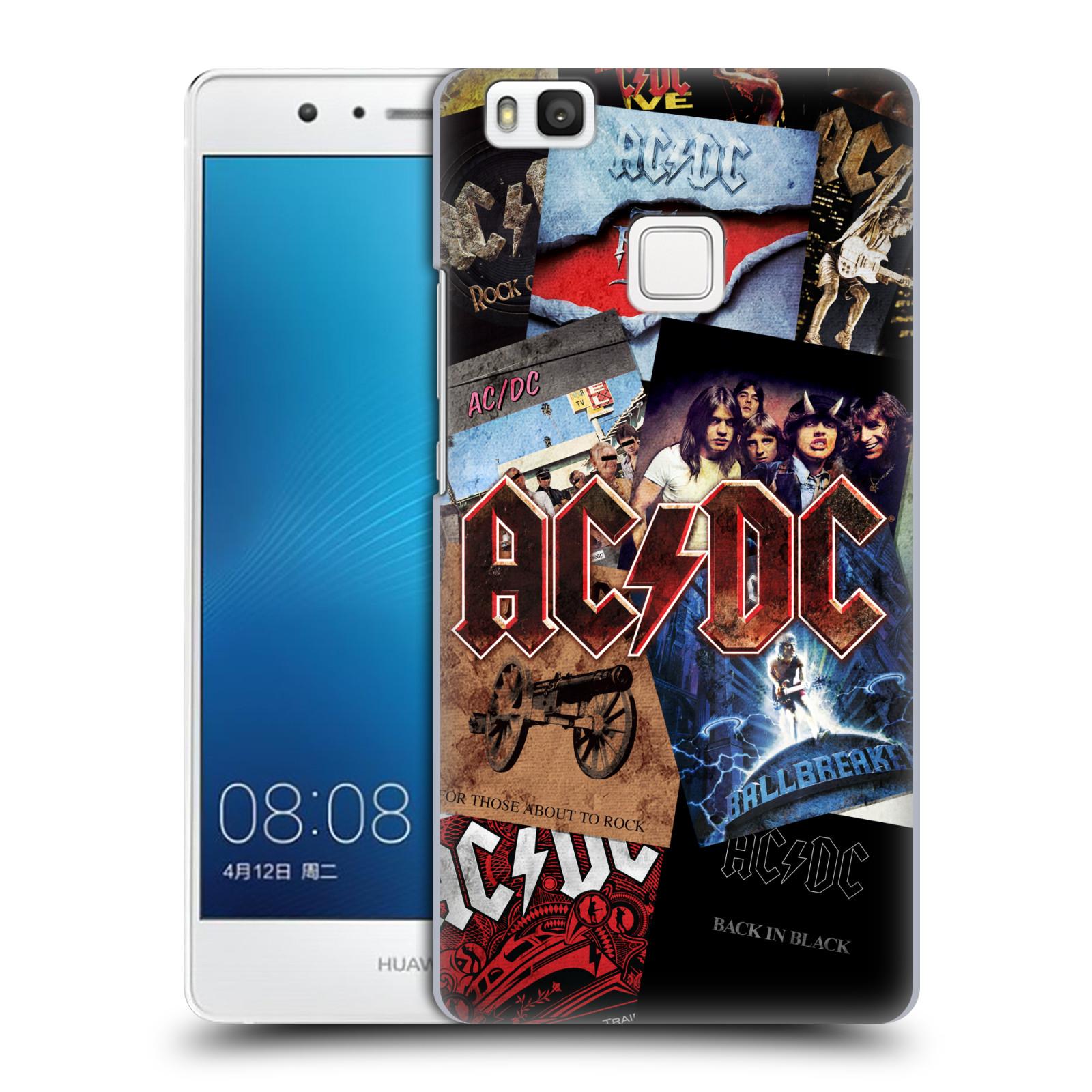 Plastové pouzdro na mobil Huawei P9 Lite HEAD CASE AC/DC Koláž desek