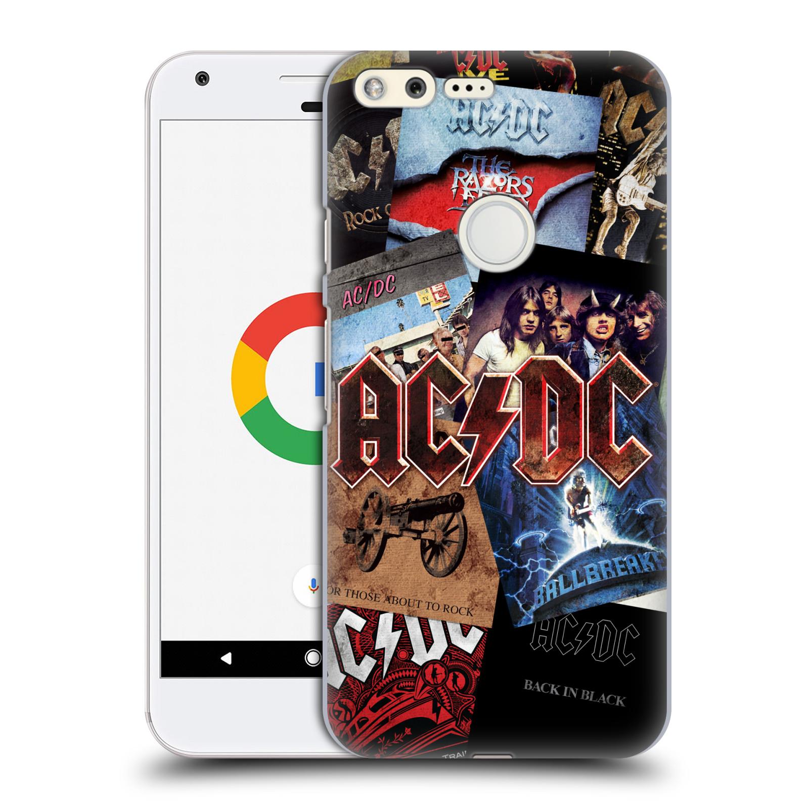 Plastové pouzdro na mobil Google Pixel HEAD CASE AC/DC Koláž desek