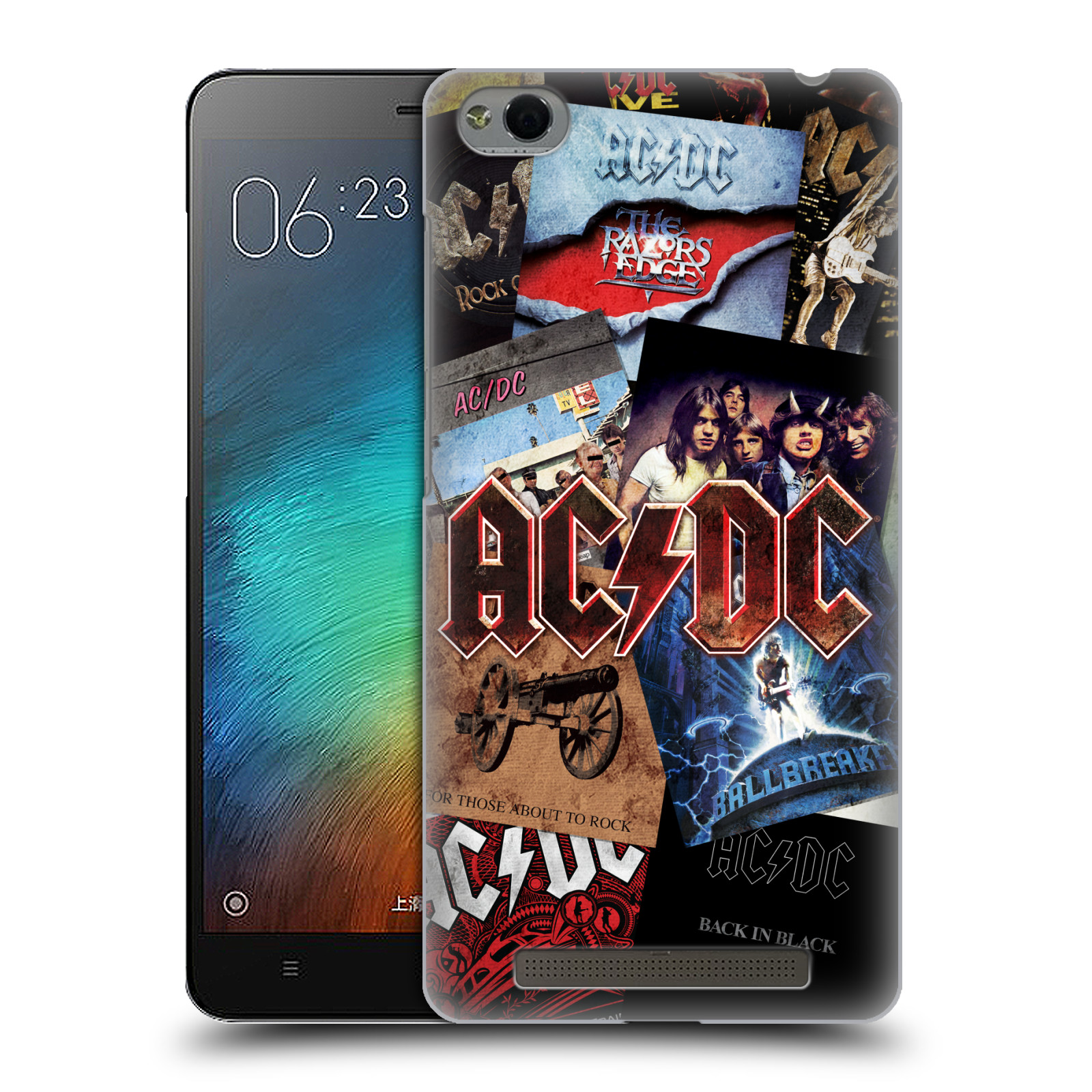 Plastové pouzdro na mobil Xiaomi Redmi 3 HEAD CASE AC/DC Koláž desek