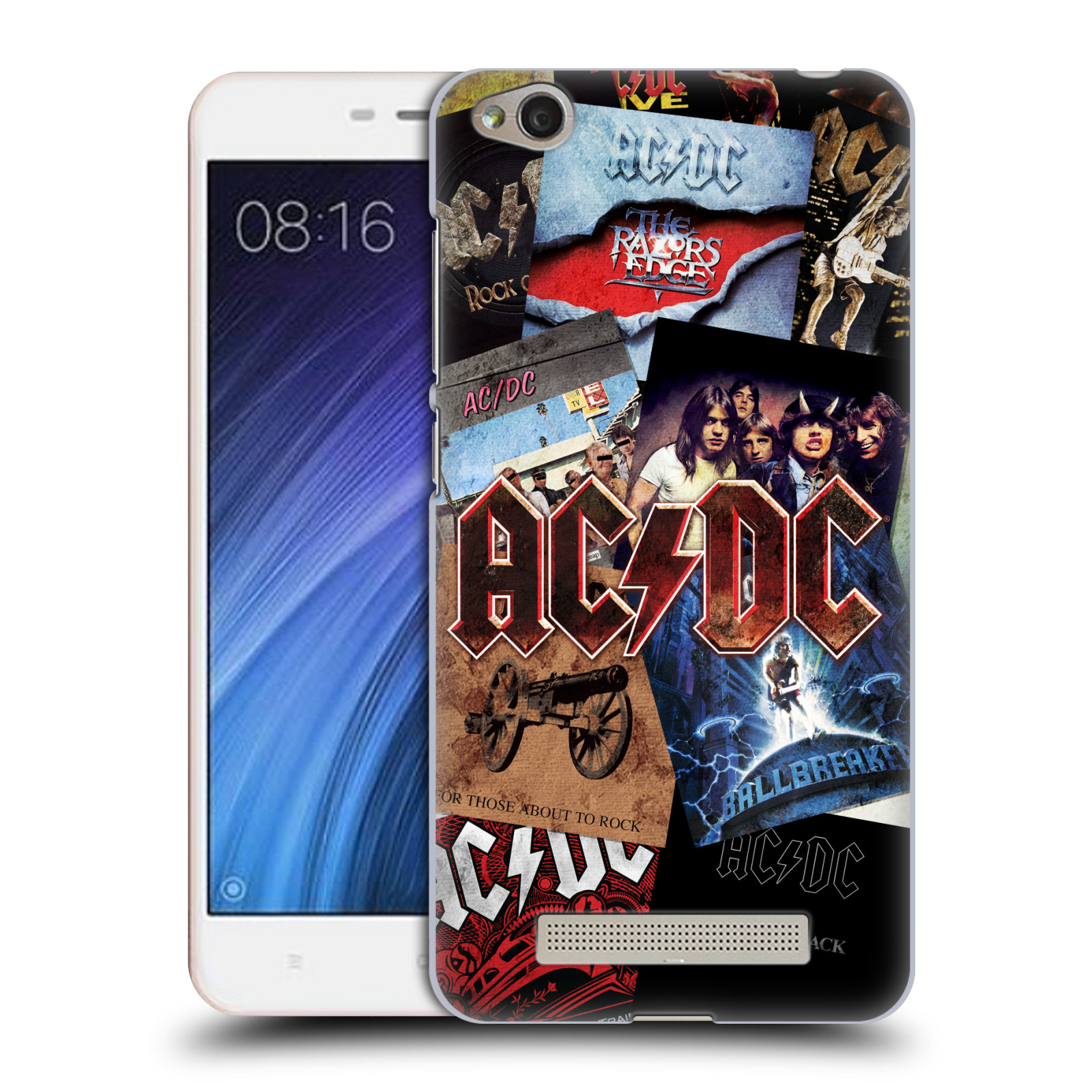 Plastové pouzdro na mobil Xiaomi Redmi 4A HEAD CASE AC/DC Koláž desek