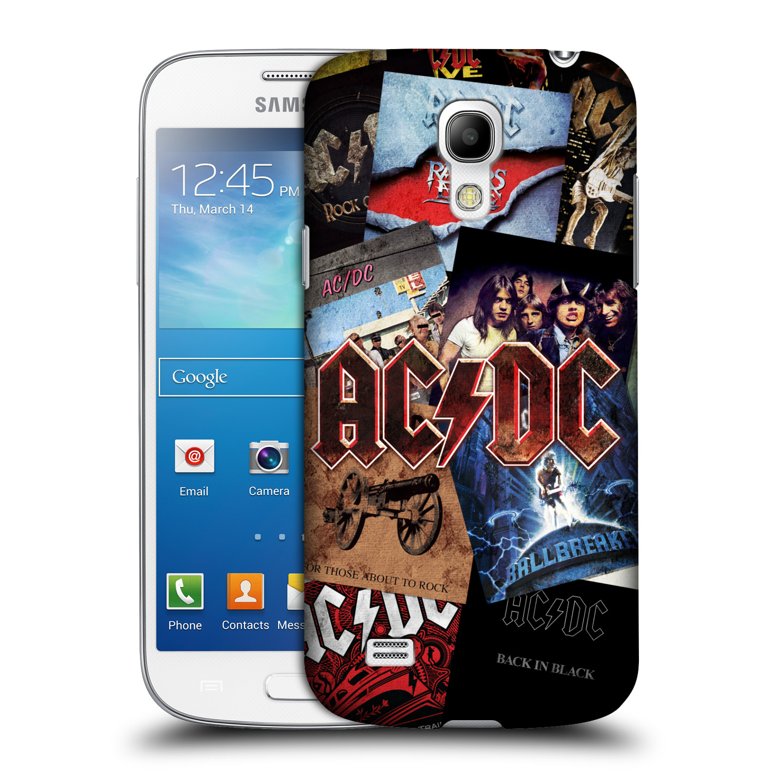 Plastové pouzdro na mobil Samsung Galaxy S4 Mini VE HEAD CASE AC/DC Koláž desek