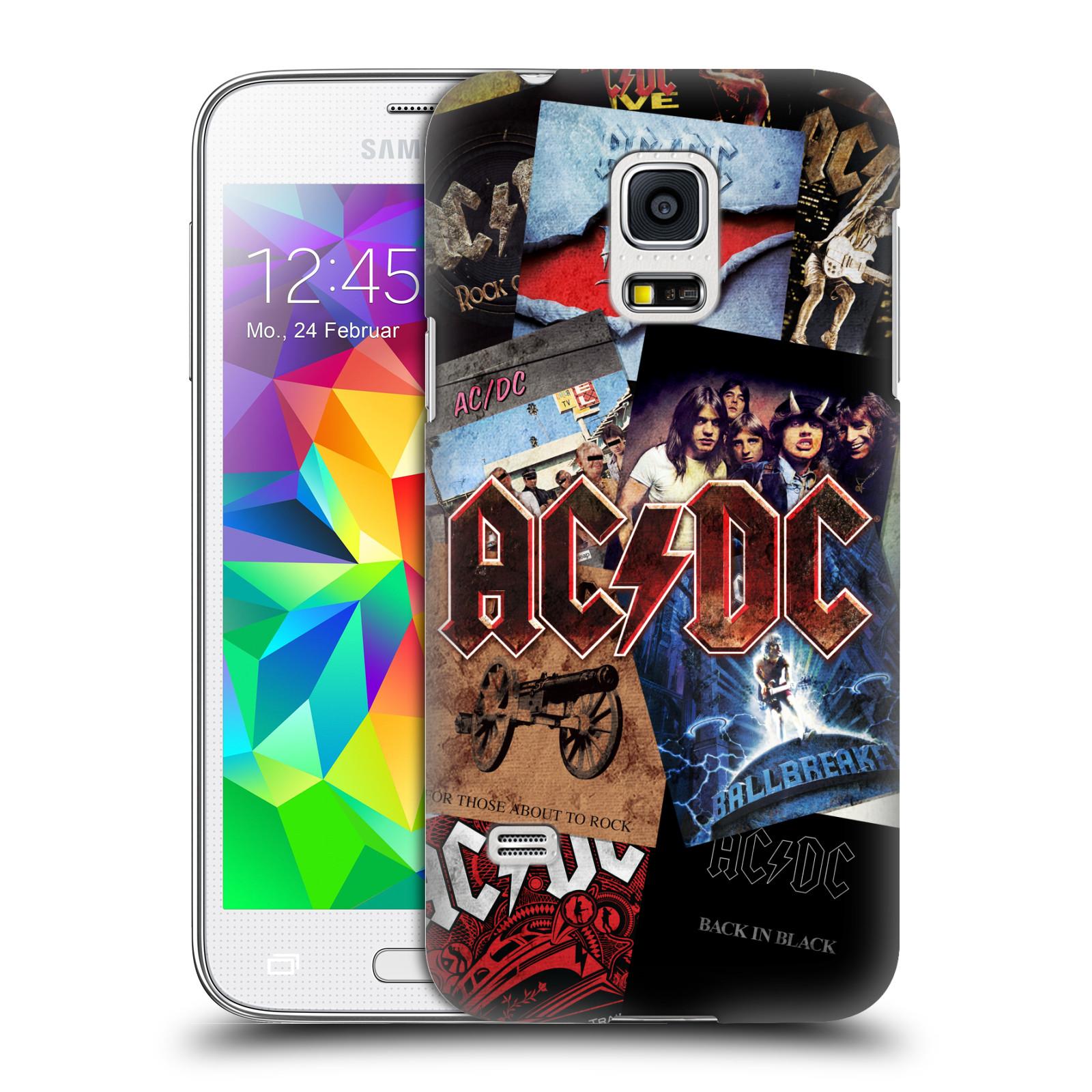 Plastové pouzdro na mobil Samsung Galaxy S5 Mini HEAD CASE AC/DC Koláž desek