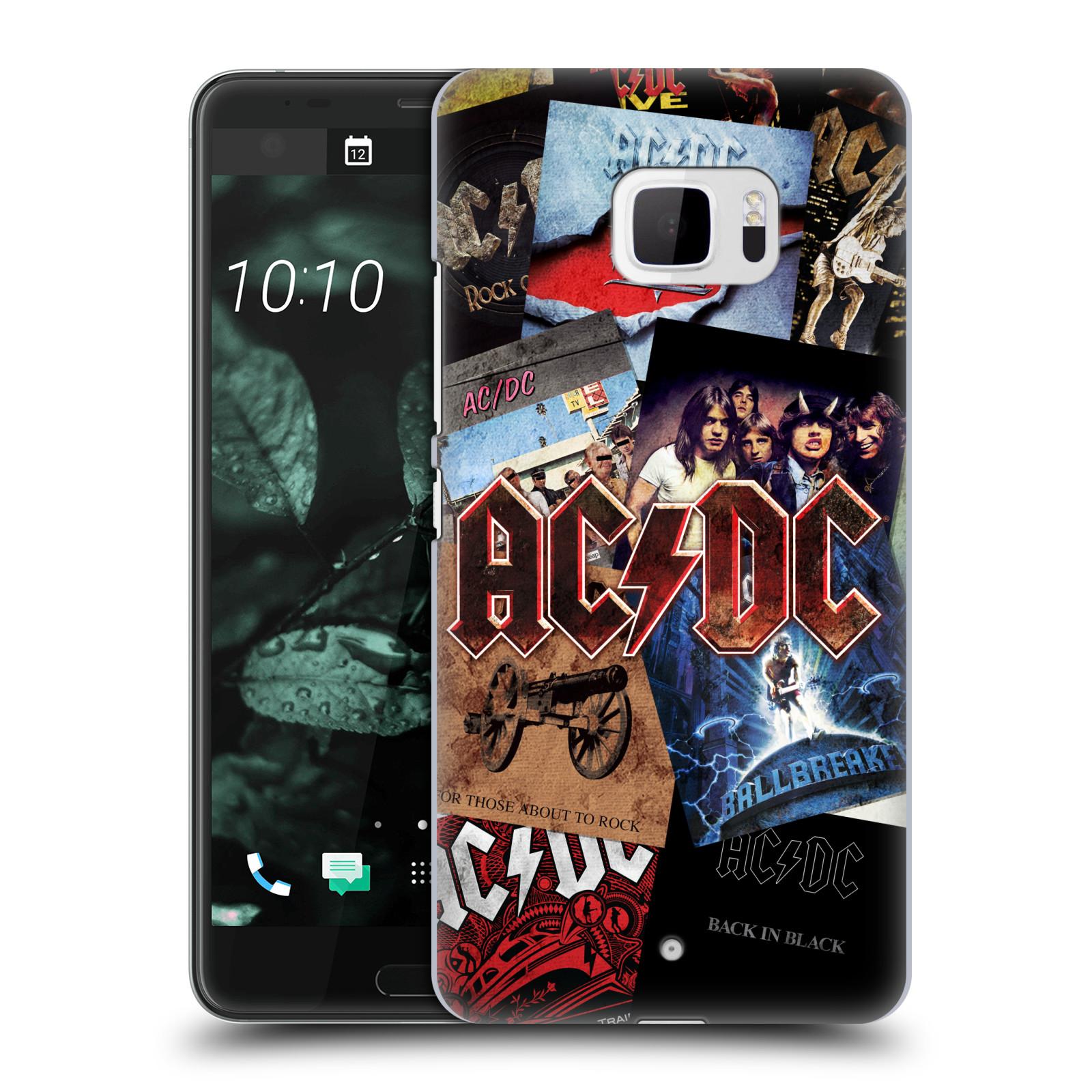 Plastové pouzdro na mobil HTC U Ultra Head Case - AC/DC Koláž desek