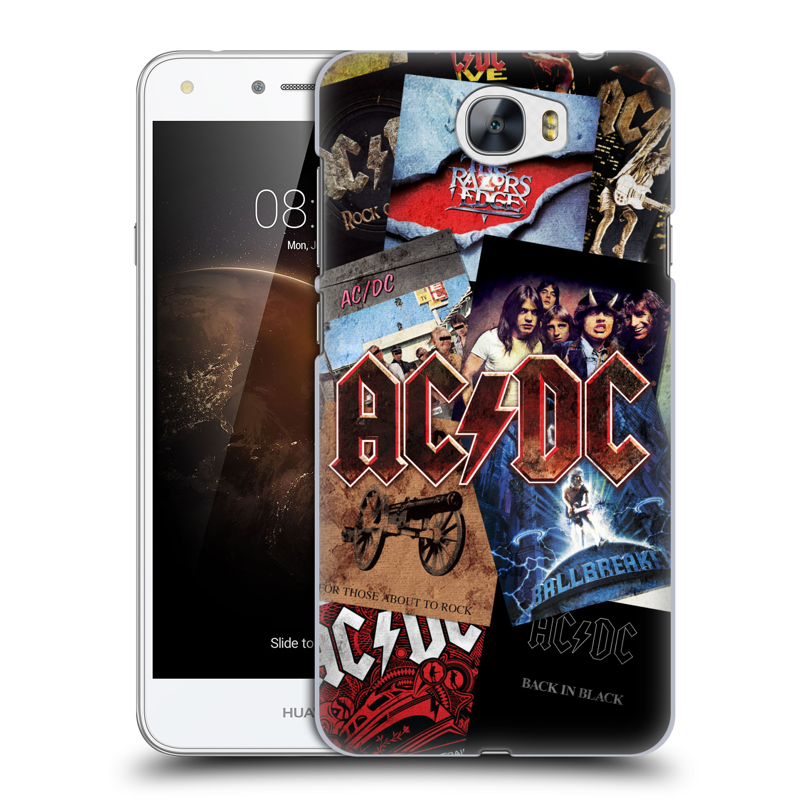 Plastové pouzdro na mobil Huawei Y5 II HEAD CASE AC/DC Koláž desek