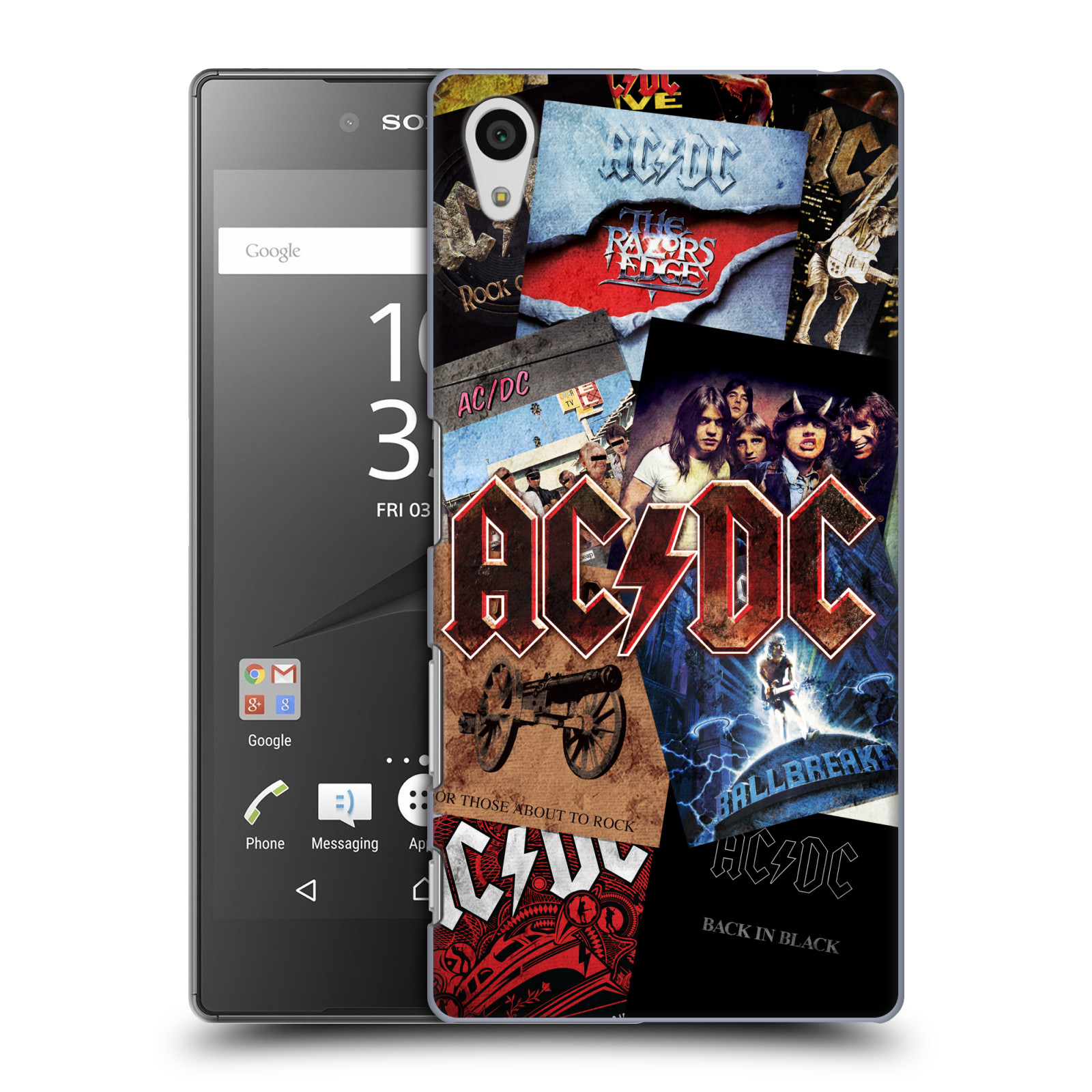 Plastové pouzdro na mobil Sony Xperia Z5 HEAD CASE AC/DC Koláž desek