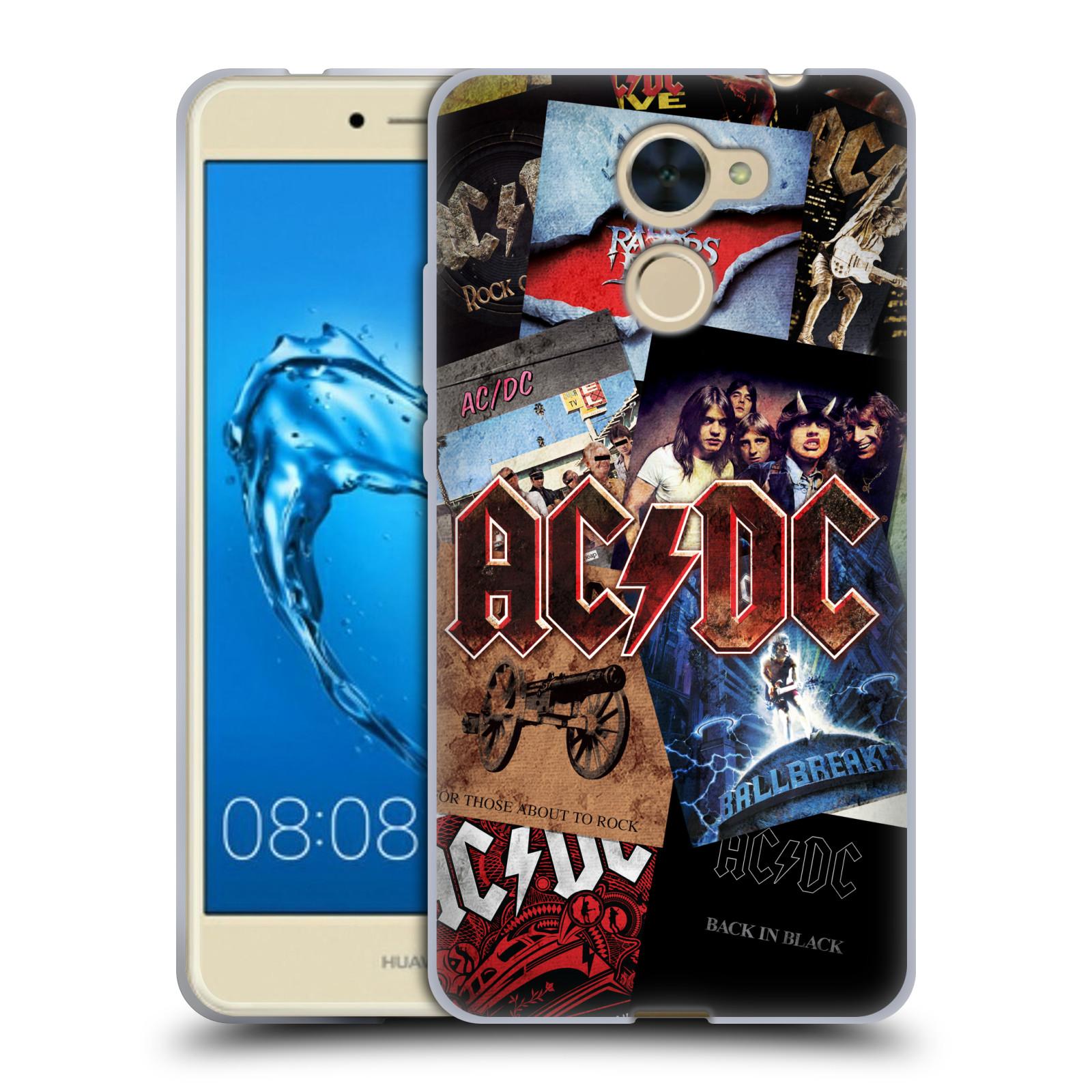Silikonové pouzdro na mobil Huawei Y7 - Head Case - AC/DC Koláž desek