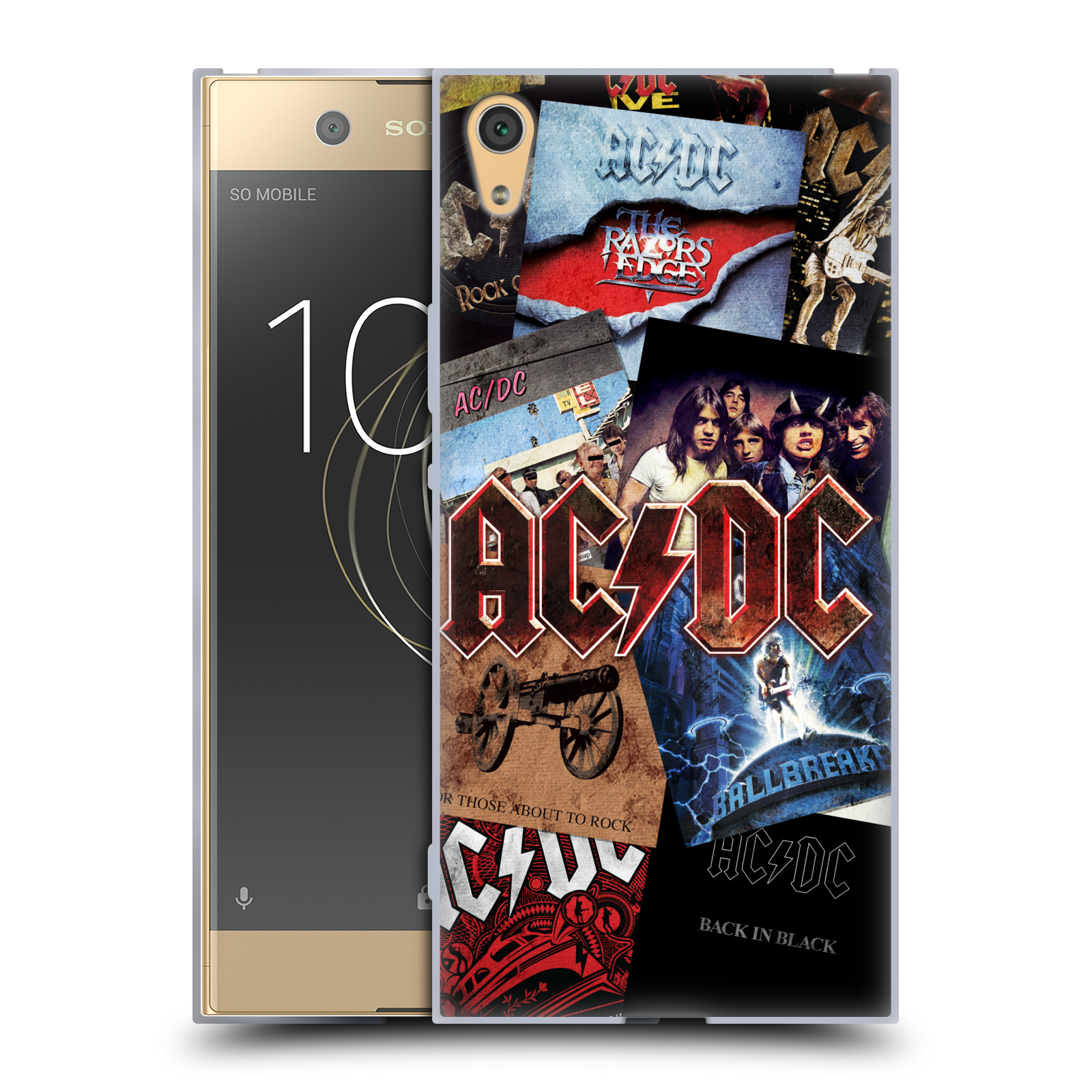 Silikonové pouzdro na mobil Sony Xperia XA1 Ultra - Head Case - AC/DC Koláž desek