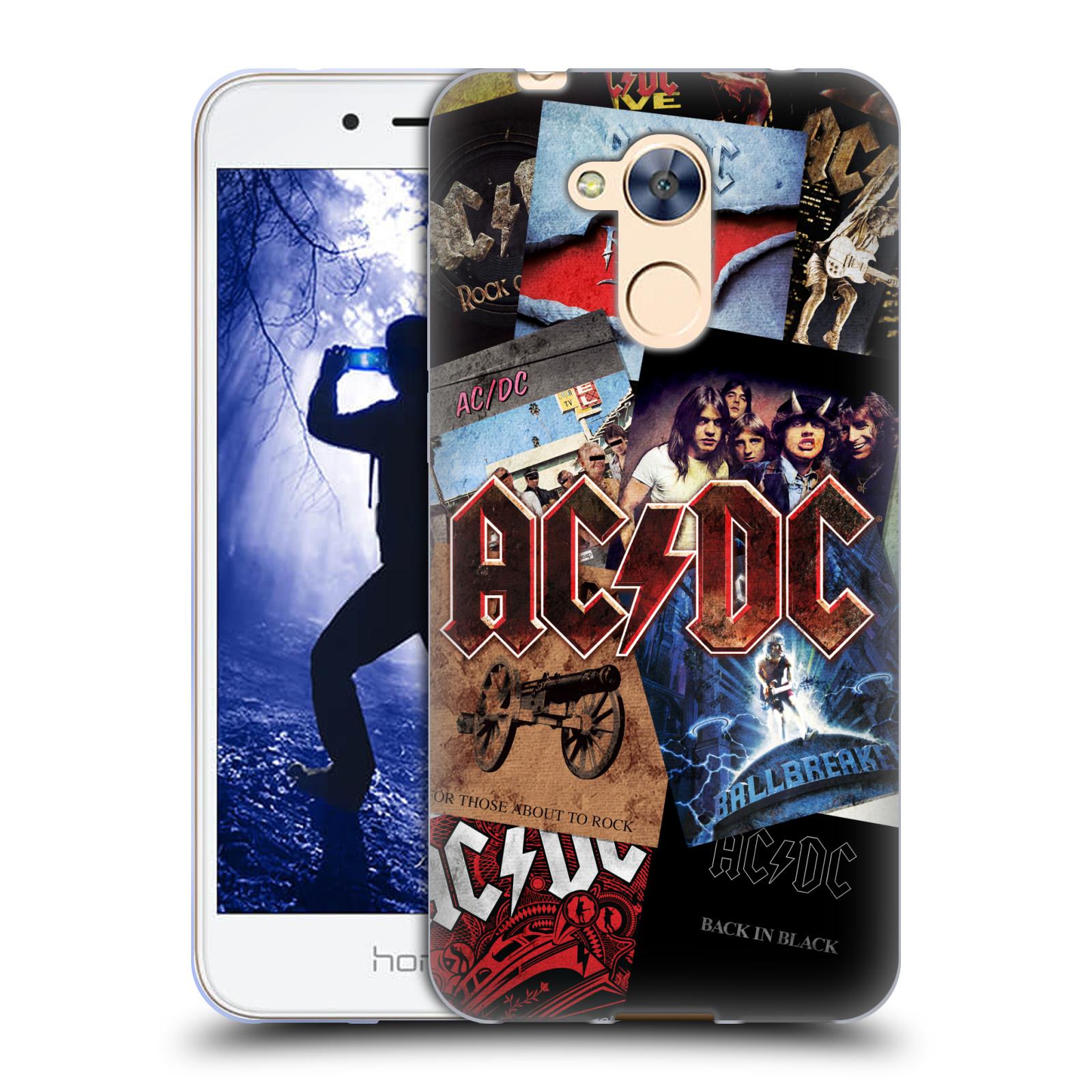 Silikonové pouzdro na mobil Honor 6A - Head Case - AC/DC Koláž desek