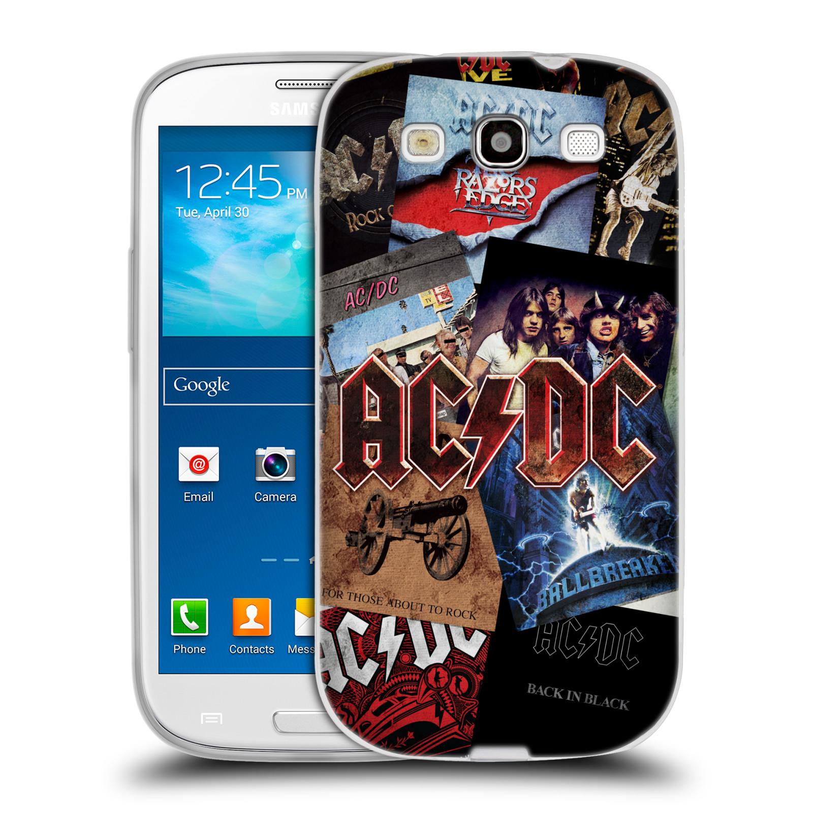 Silikonové pouzdro na mobil Samsung Galaxy S3 Neo HEAD CASE AC/DC Koláž desek