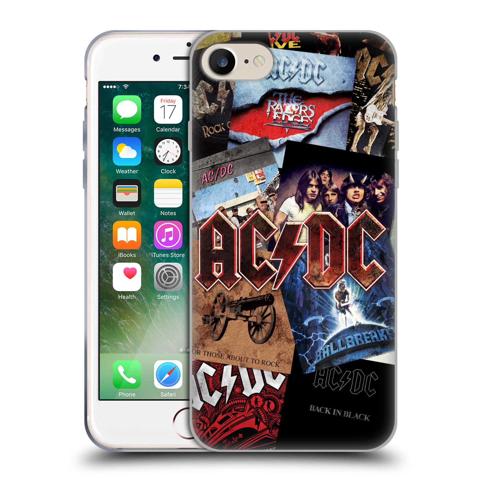Silikonové pouzdro na mobil Apple iPhone 8 - Head Case - AC/DC Koláž desek
