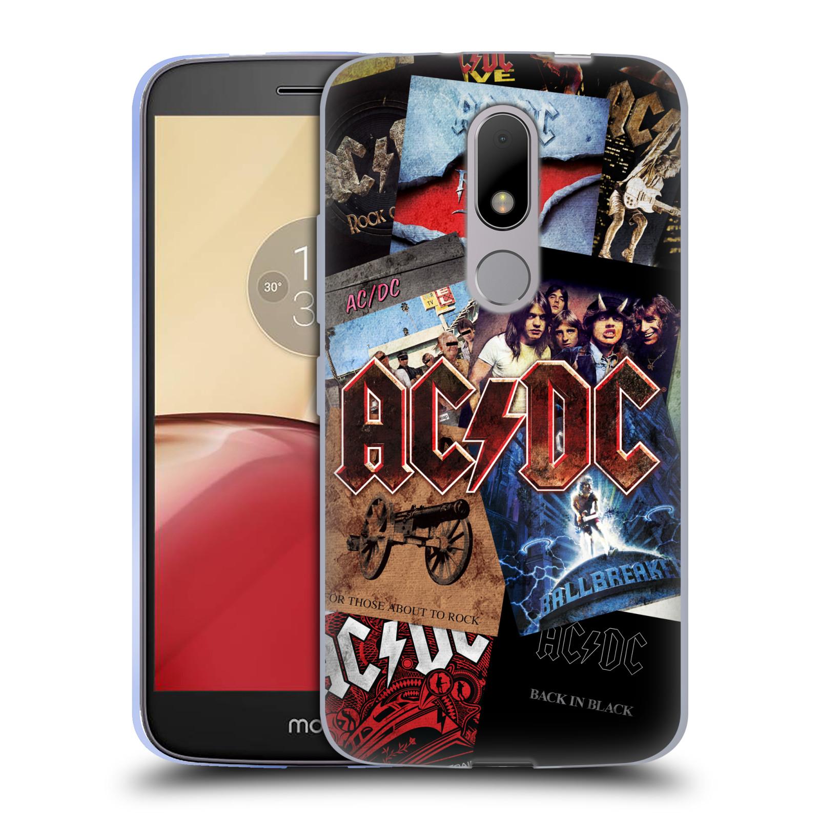 Silikonové pouzdro na mobil Lenovo Moto M - Head Case AC/DC Koláž desek