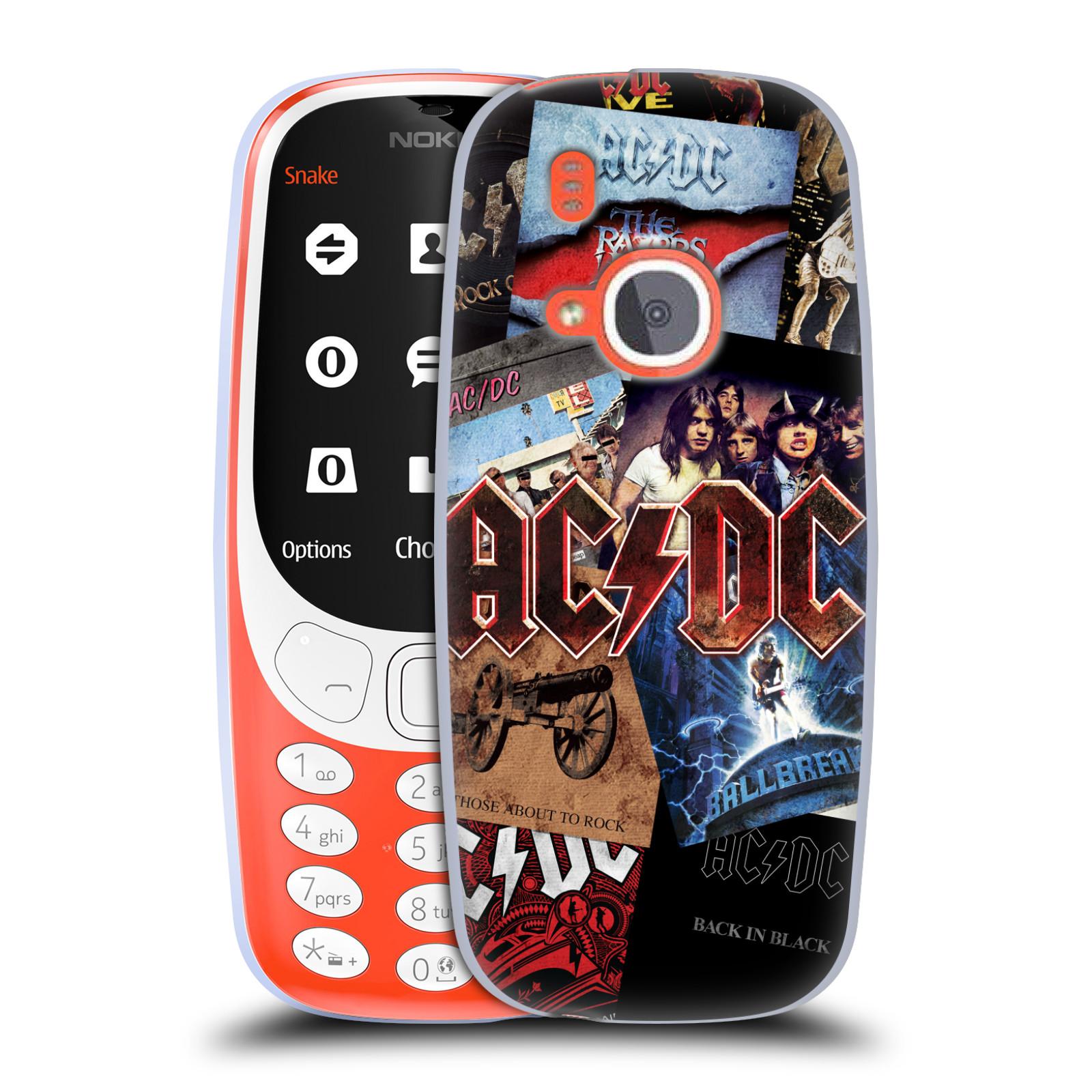Silikonové pouzdro na mobil Nokia 3310 - Head Case - AC/DC Koláž desek