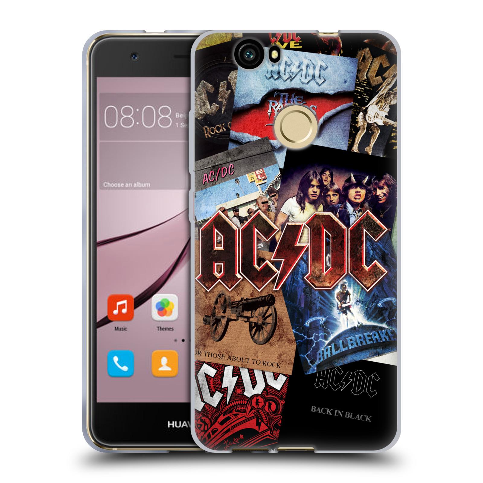 Silikonové pouzdro na mobil Huawei Nova - Head Case - AC/DC Koláž desek