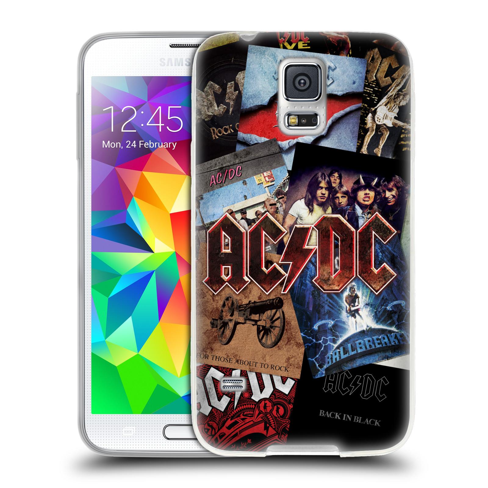 Silikonové pouzdro na mobil Samsung Galaxy S5 HEAD CASE AC/DC Koláž desek