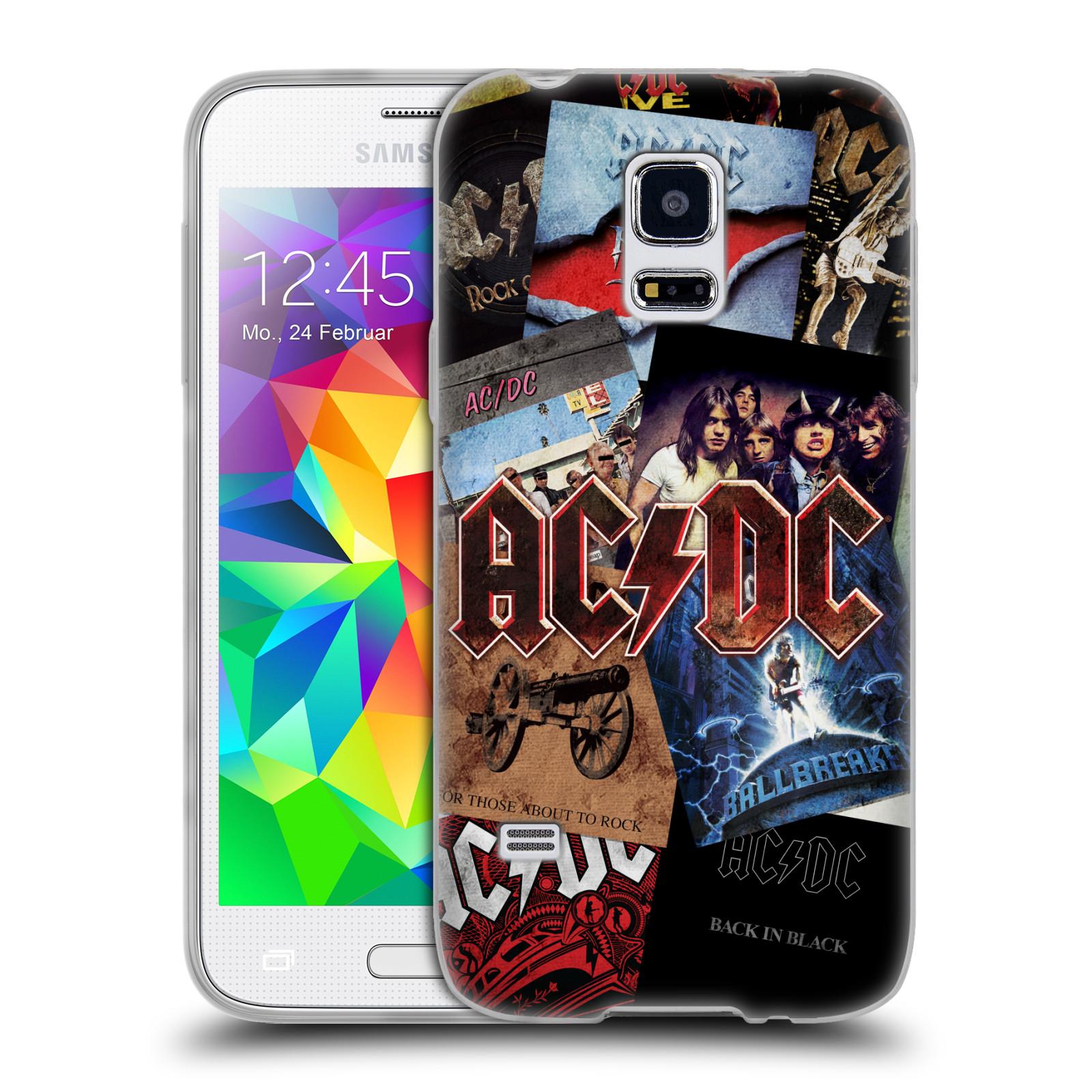 Silikonové pouzdro na mobil Samsung Galaxy S5 Mini HEAD CASE AC/DC Koláž desek
