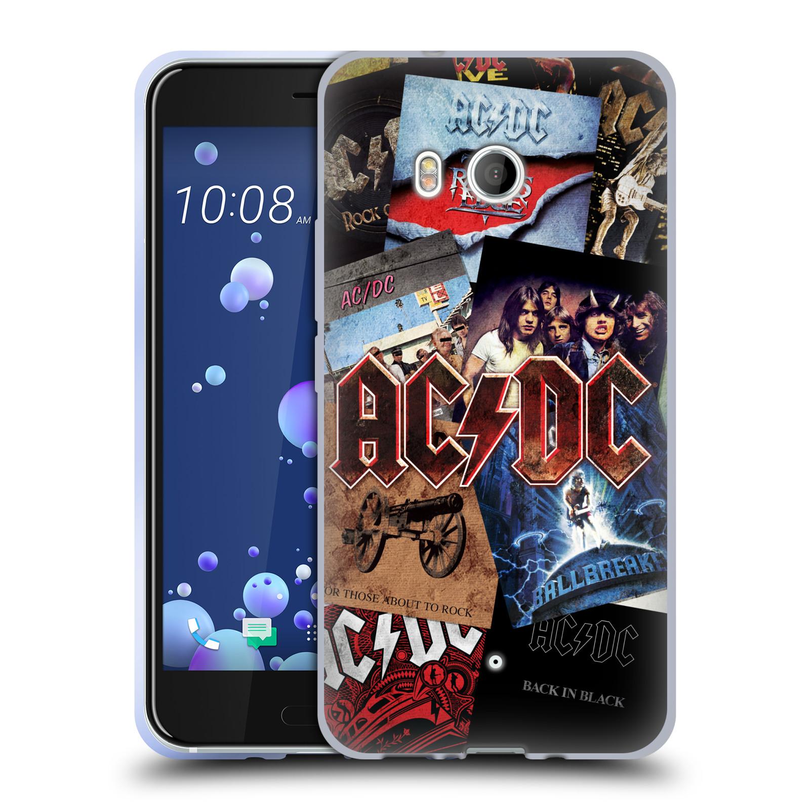 Silikonové pouzdro na mobil HTC U11 - Head Case - AC/DC Koláž desek