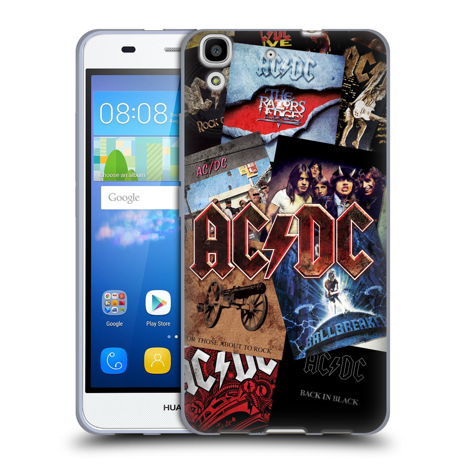 Silikonové pouzdro na mobil Huawei Y6 HEAD CASE AC/DC Koláž desek
