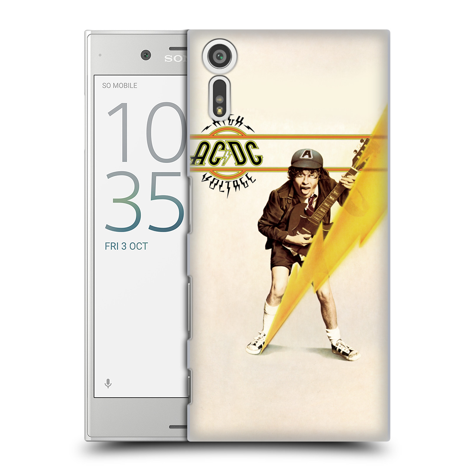 Plastové pouzdro na mobil Sony Xperia XZ - Head Case AC/DC High Voltage